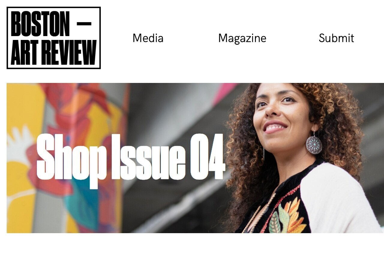 Thanks to   Boston Art Review  for featuring me in their Issue 04: The Public Art Issue  which will be out this fall. Launch party on Sat. Sept. 28 .  RSVP here.
