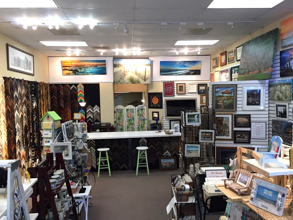 Stop by ourgallery & see 100's of frame choices as well as local landmark art and gifts.