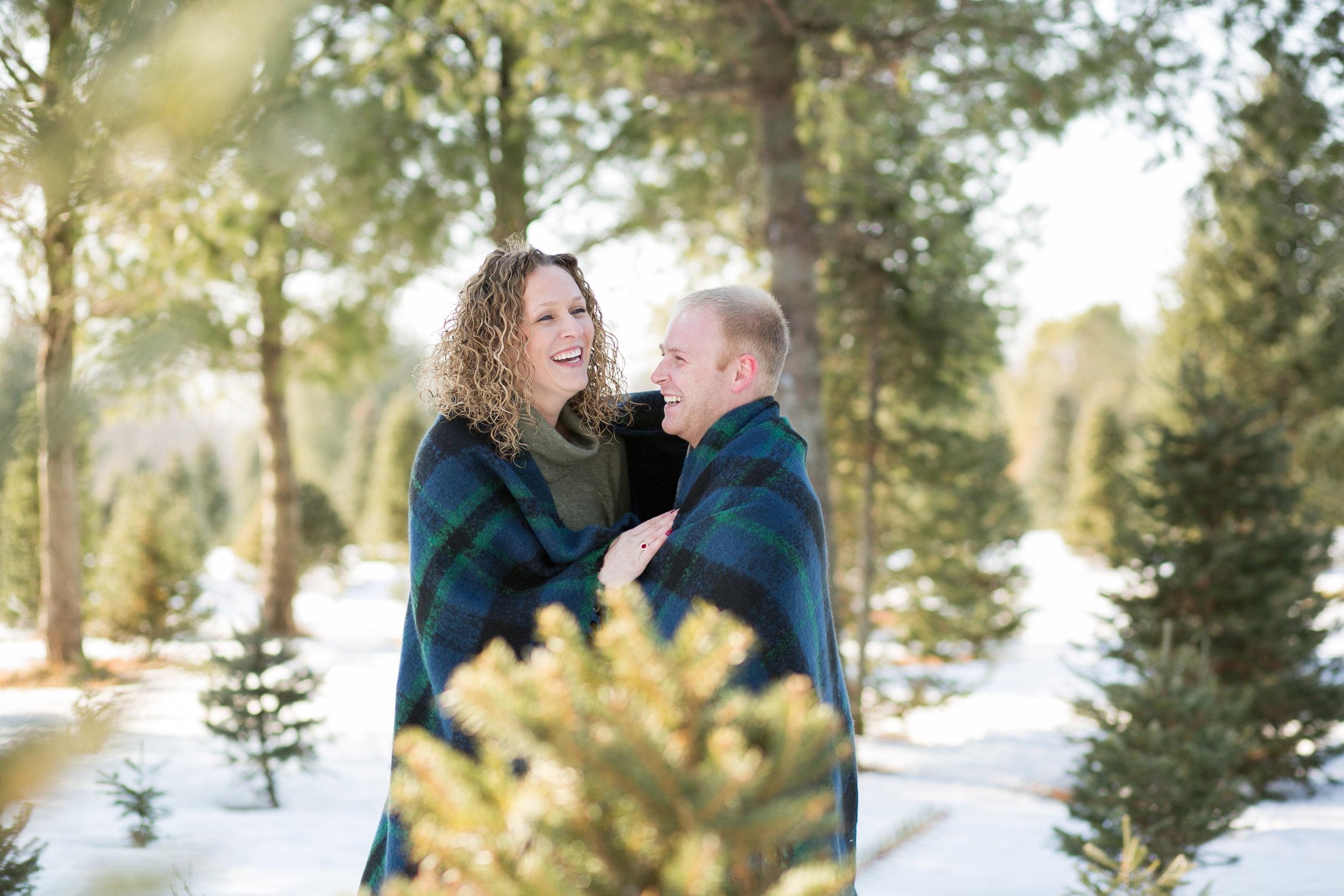 Minnesota Winter Engagement Photo by Minneapolis Wedding Photographer Chelsea Bolling
