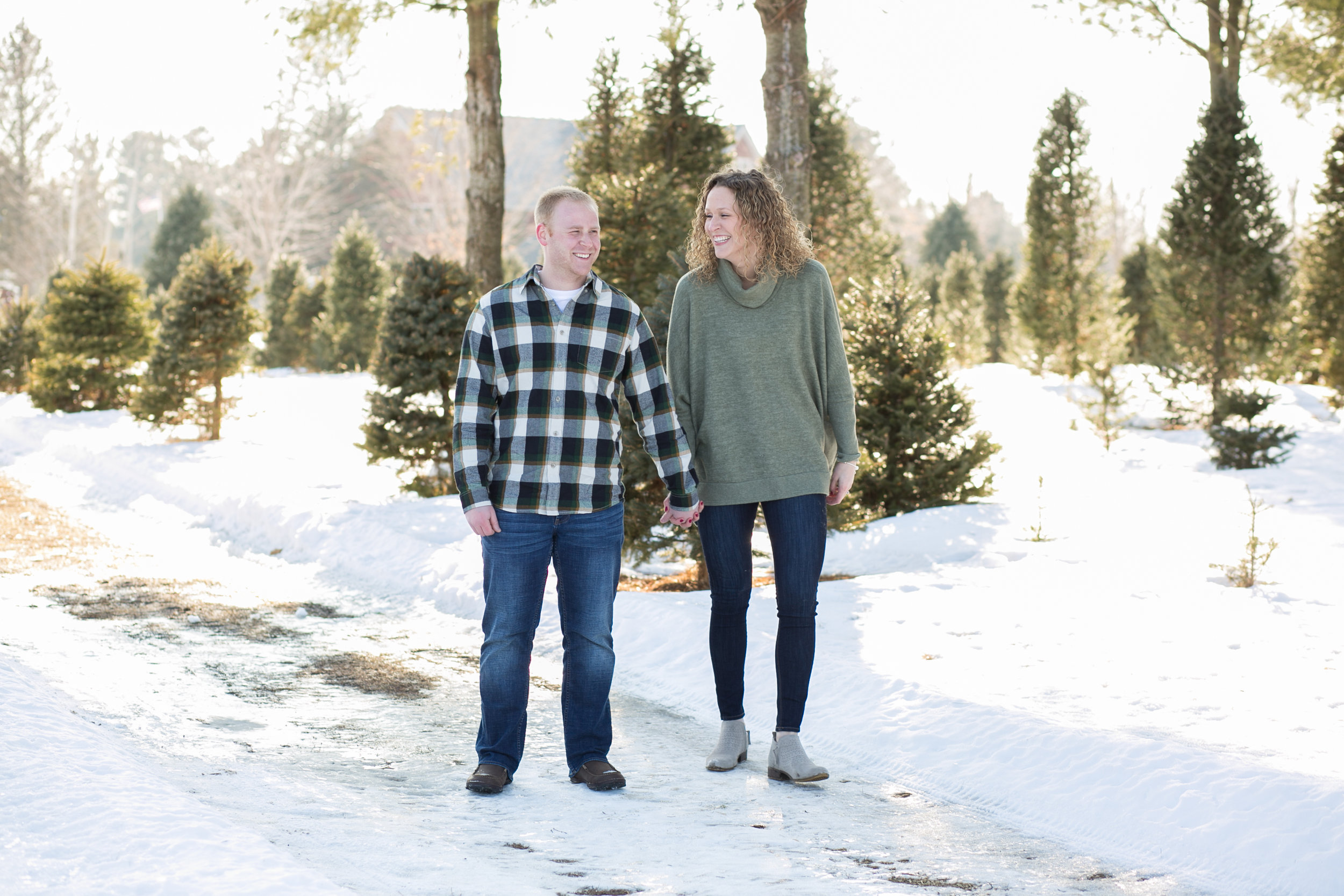 Tree Farm Engagement Photo Ideas by Chelsea Bolling Photography