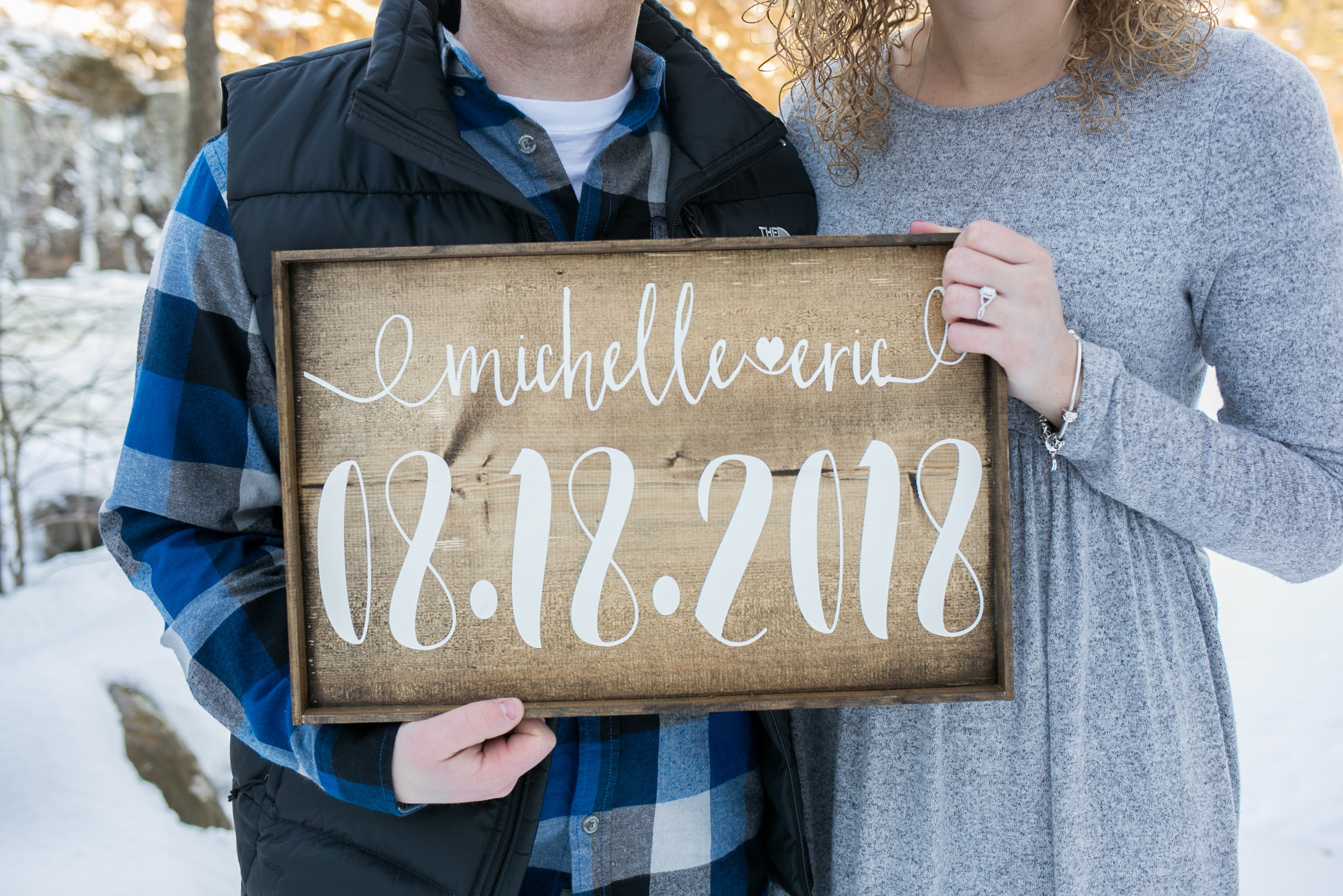Engagment Photo Sign Prop by Chelsea Bolling Photography