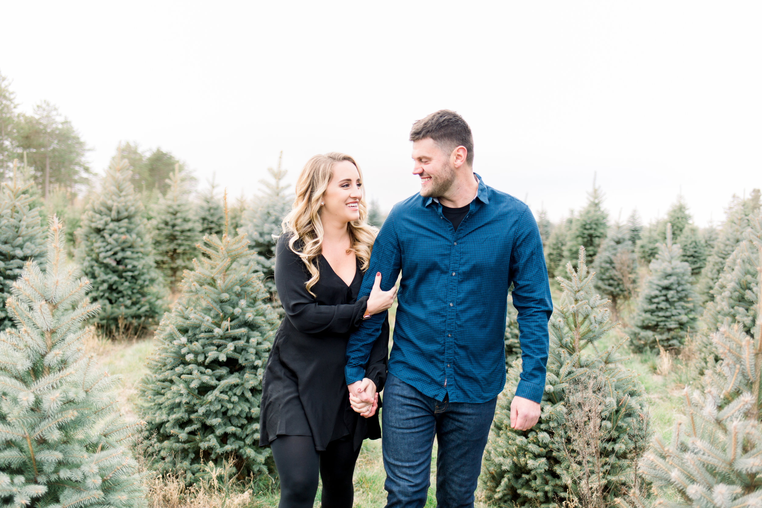 Fall Tree Farm Engagement Session by Minneapolis Wedding Photographer Chelsea Bolling