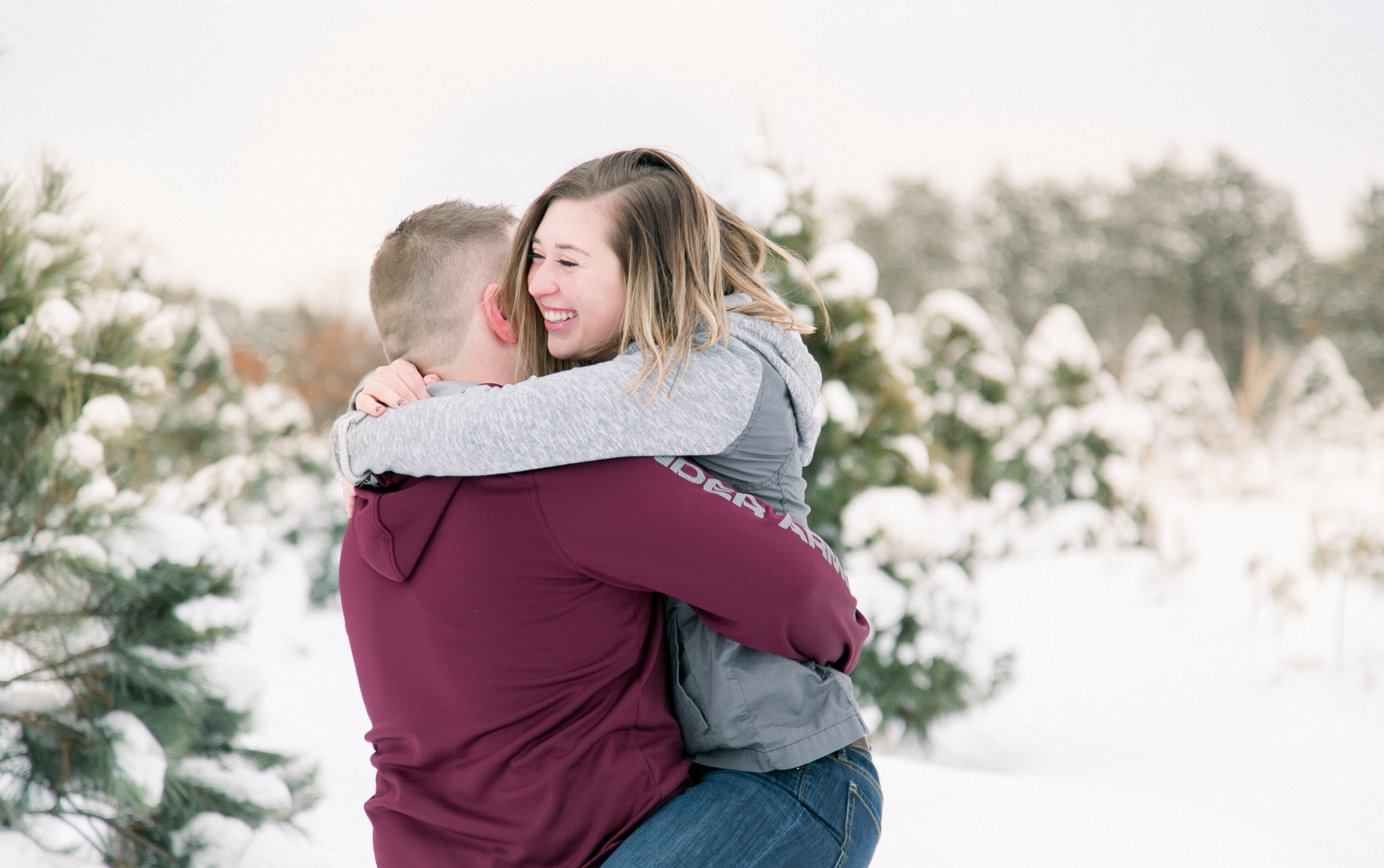 Minneapolis tree farm engagement