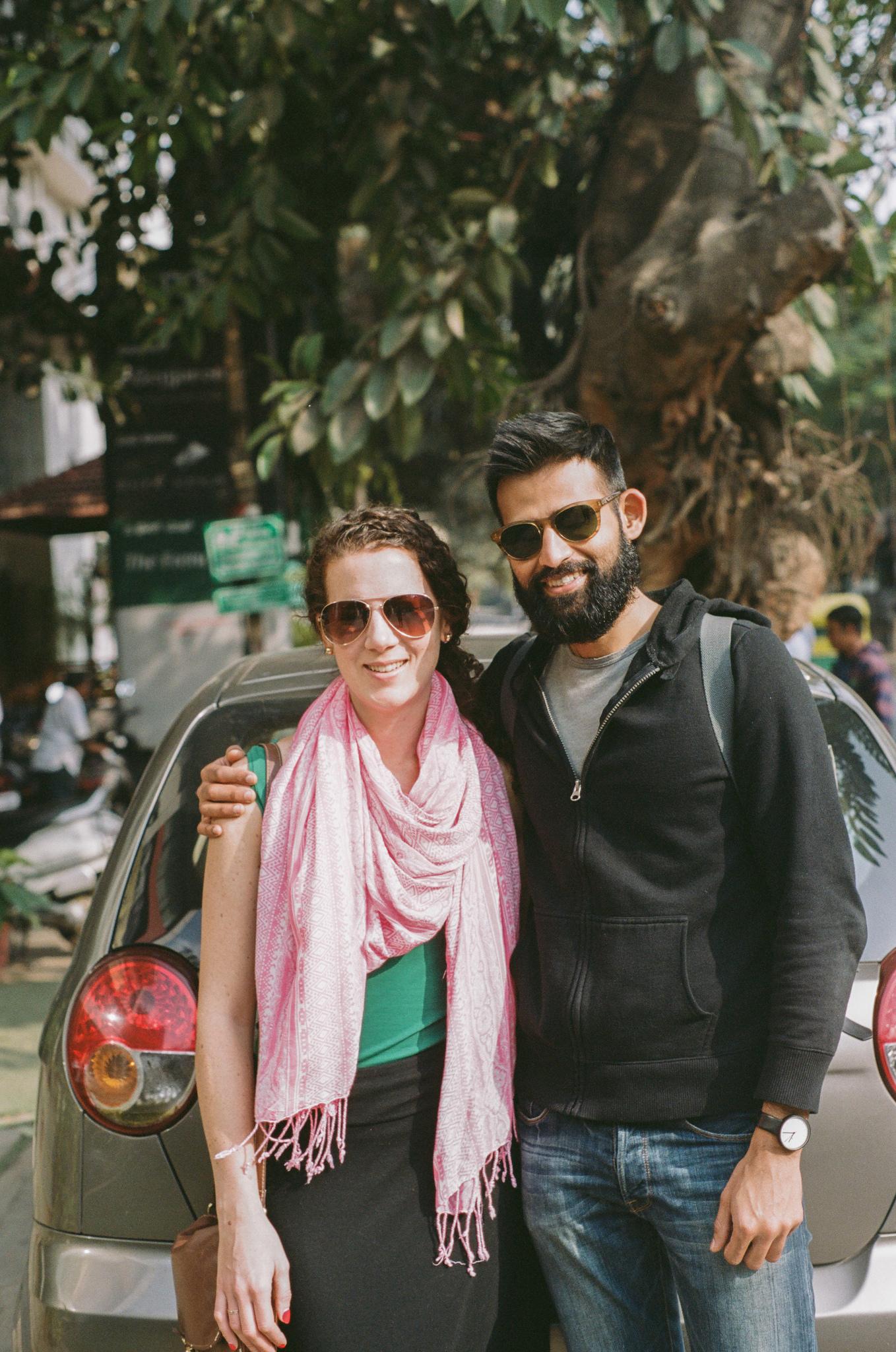 Meghan and Premshree in Bangalore, India in 2015