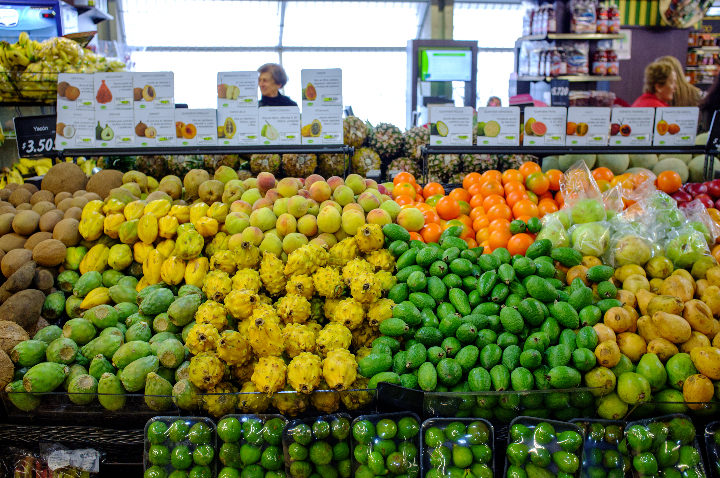 Fruits at the local Carulla supermarket, Chapinero, Bogotá