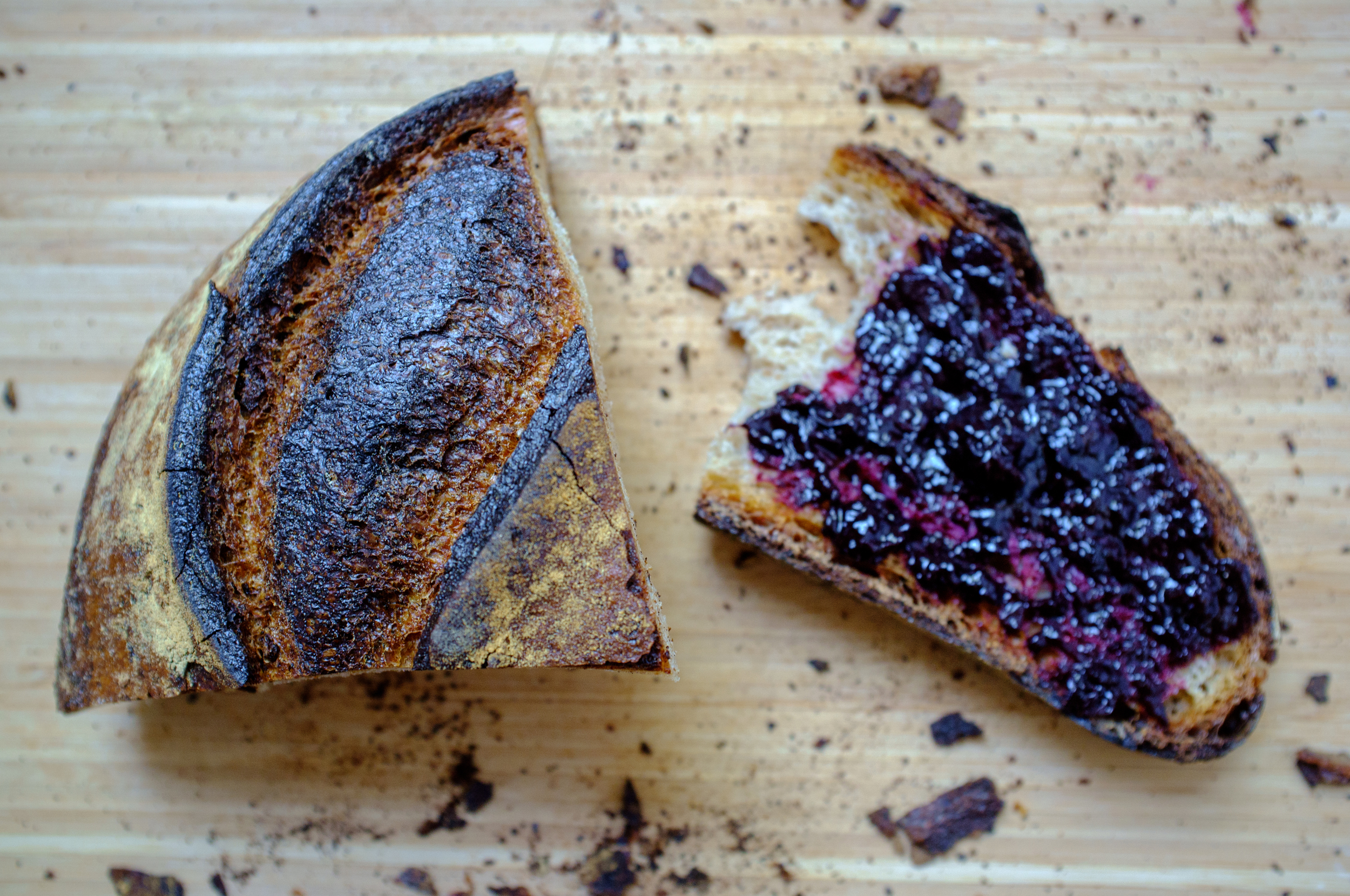 Neighborhood bakery Bien Cuit's MIche, a 68-hour fermented sourdough