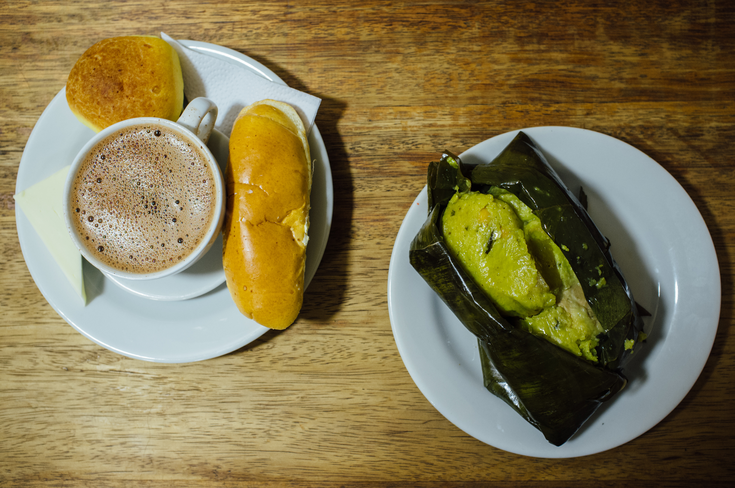 Chocolate completo  and  tamal  at La Puerta Falsa