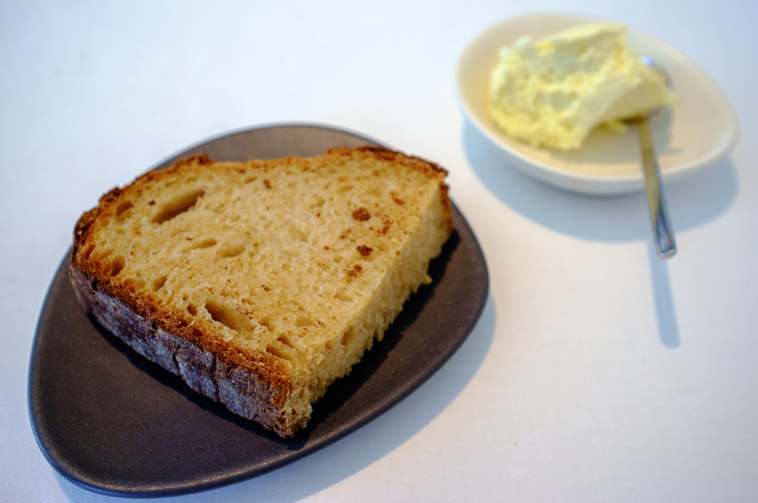 Sourdough bread with lightly churned Jersey butter