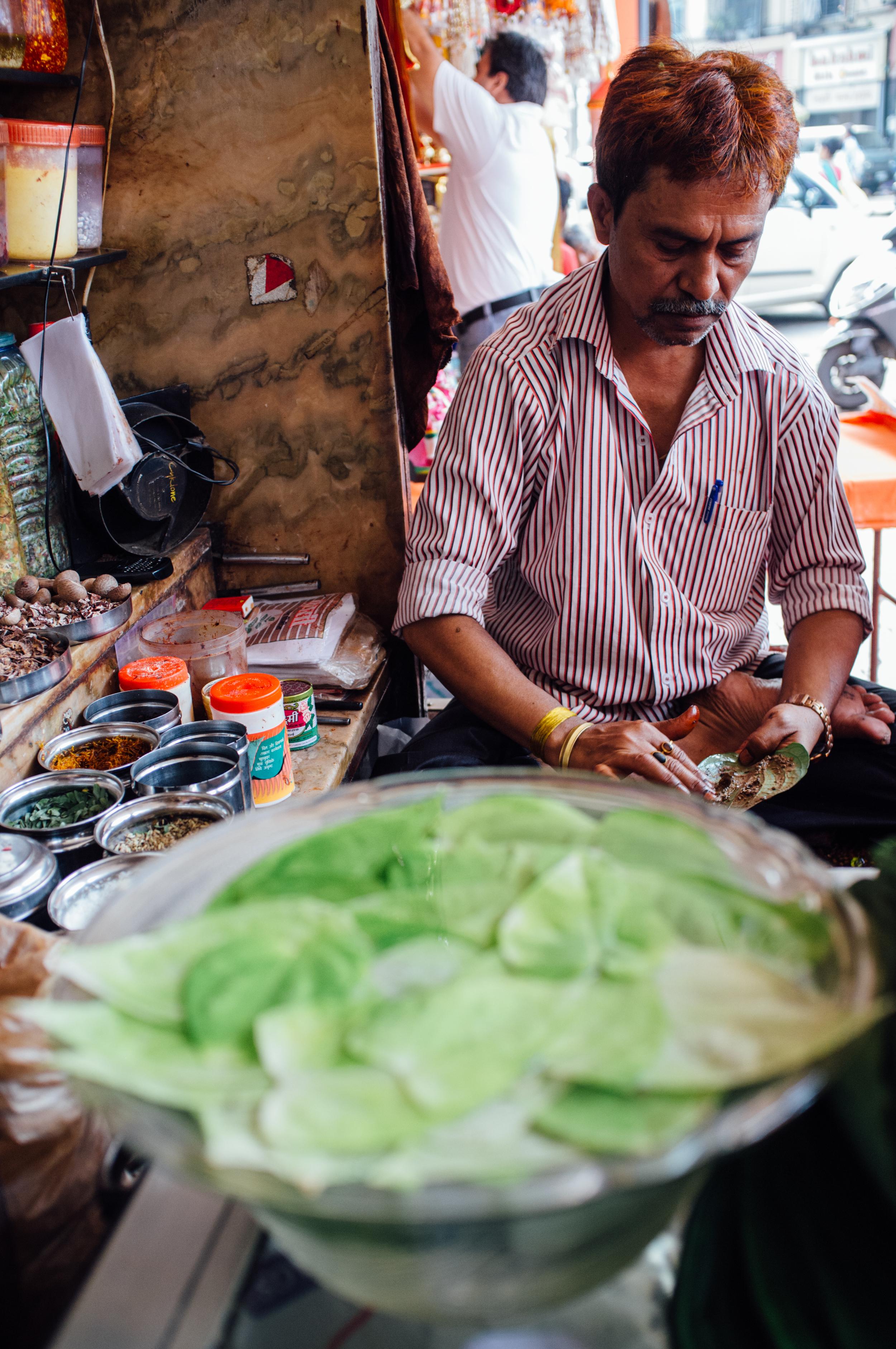 Dinesh Chaurasiya-ji at his stall in Matunga
