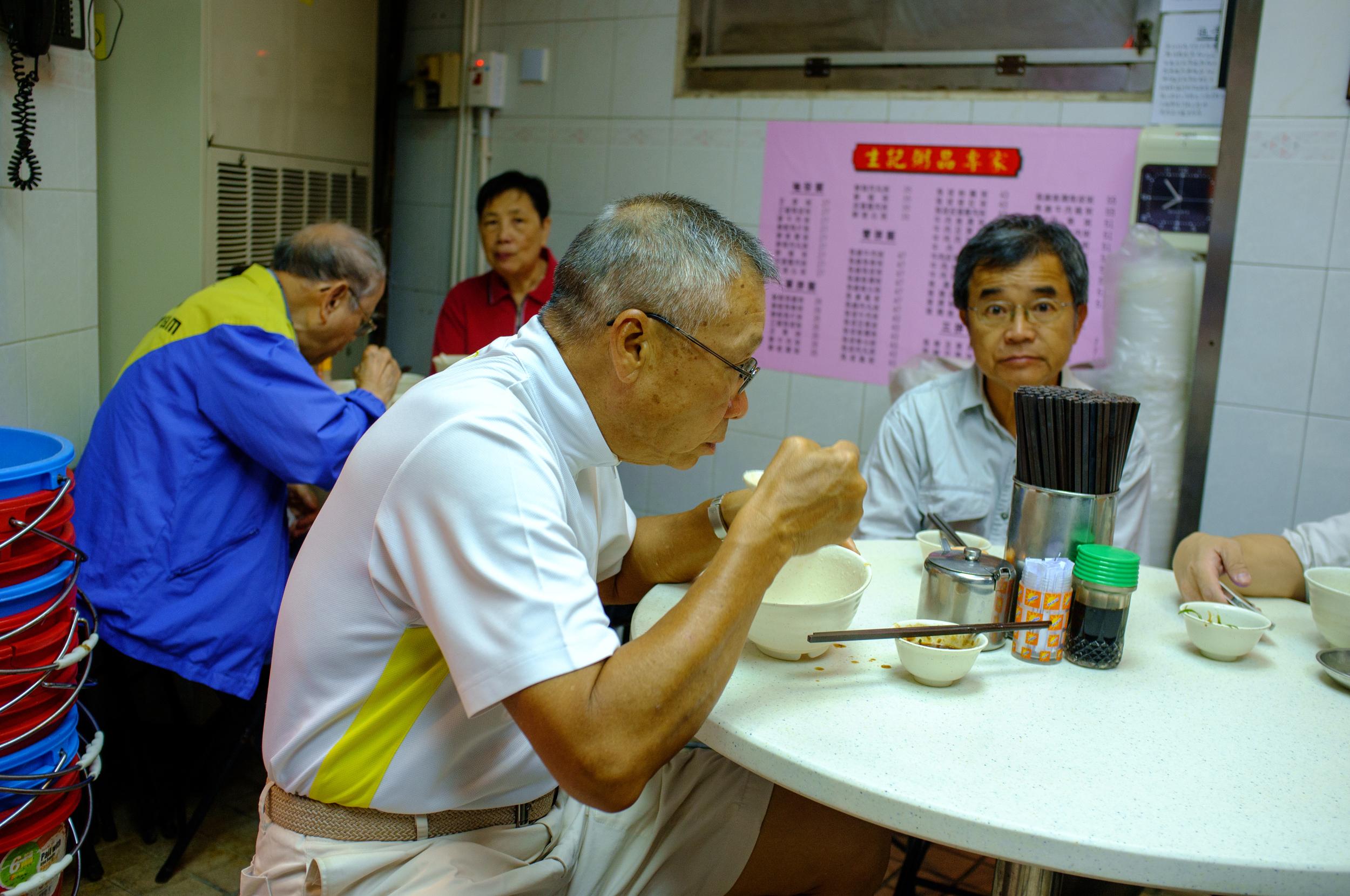 The regulars at Sang Kee