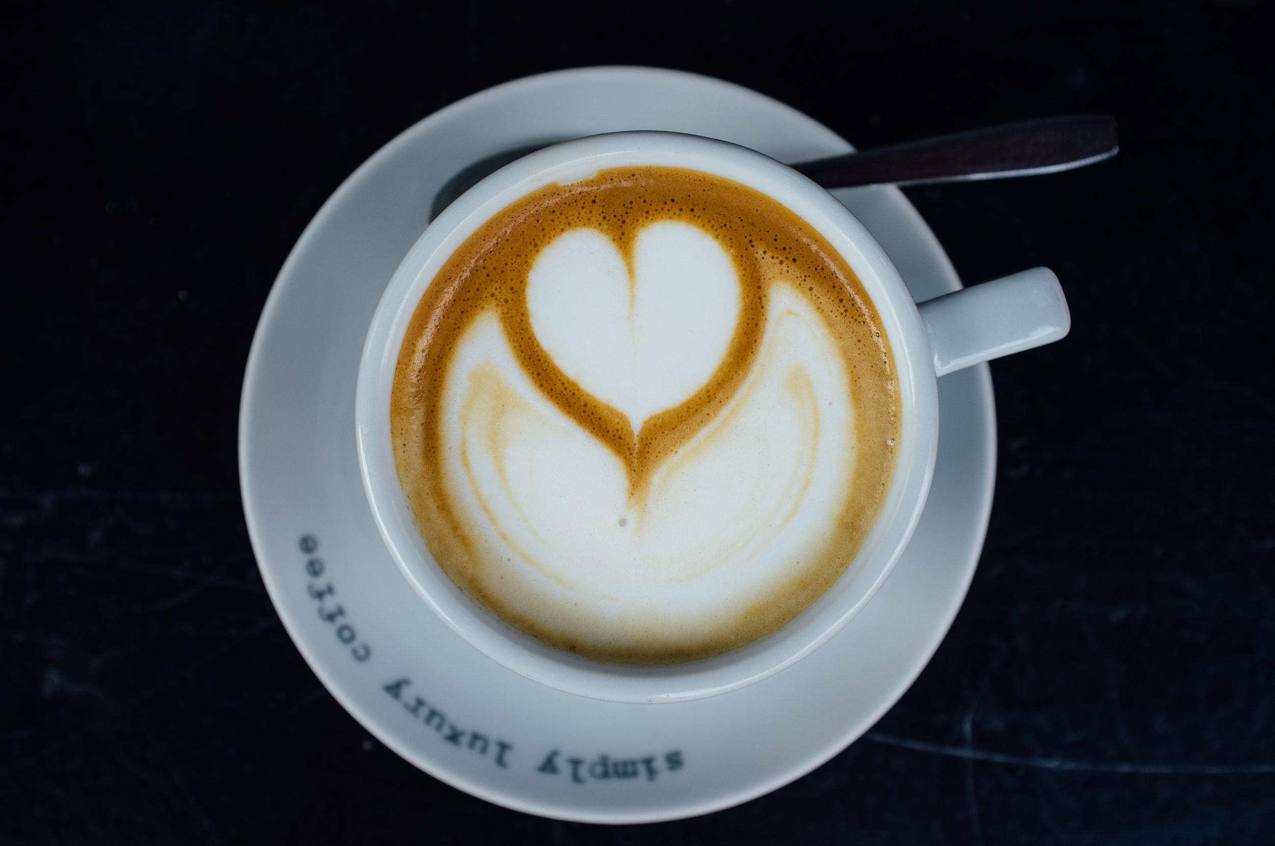 A cappuccino at Eli's Caffe