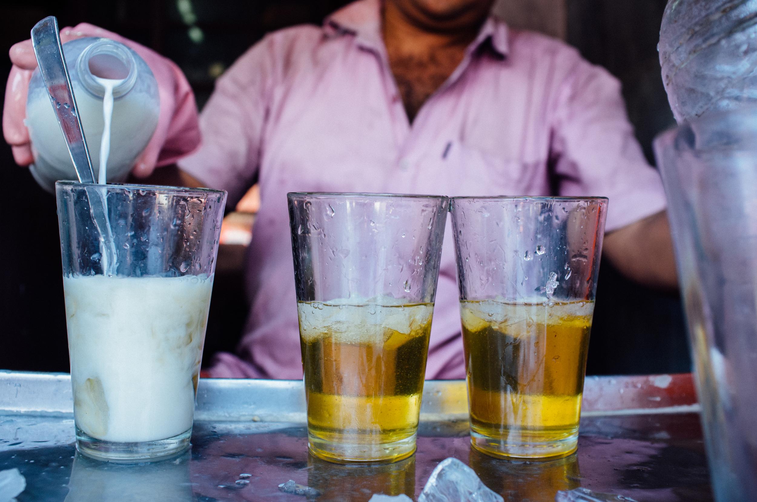 Paal sarbath (milk sarbath)