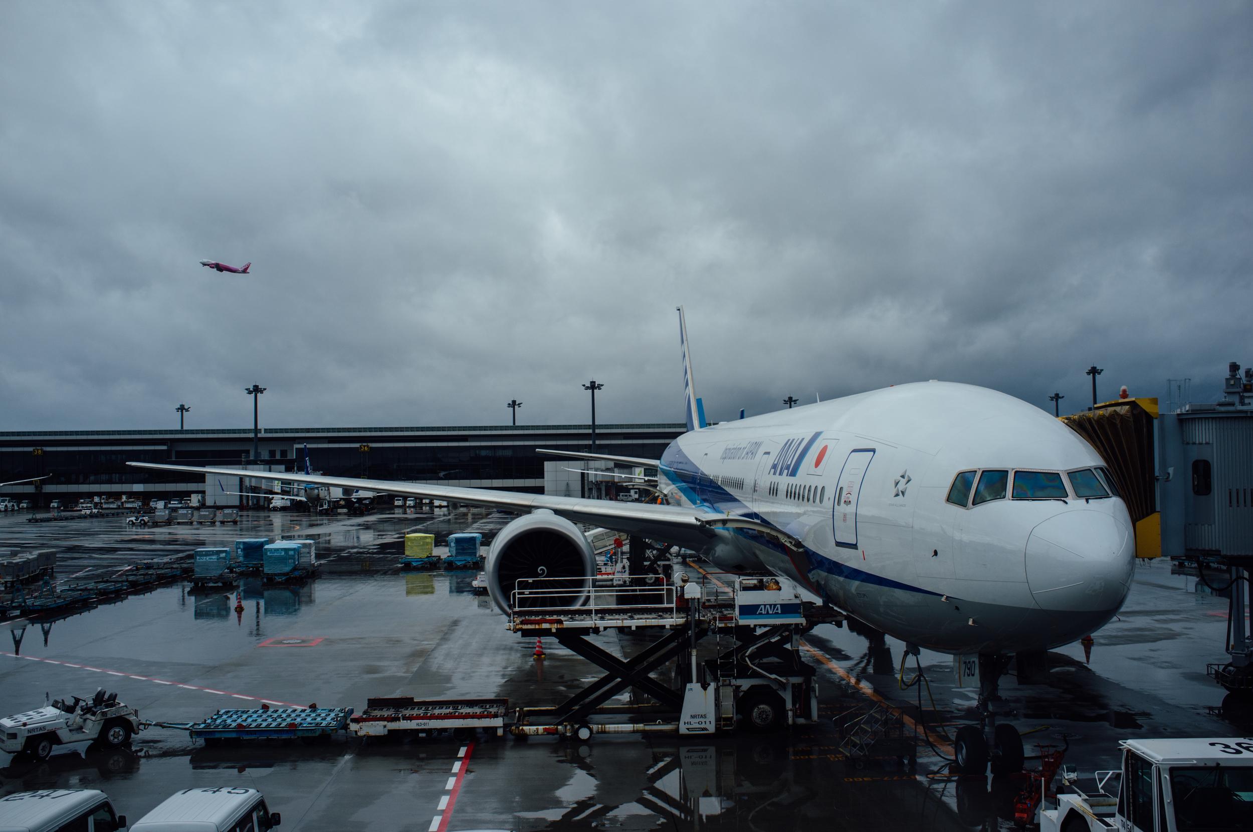 Transiting through Tokyo Narita,one of many transportation hubs we traveled through
