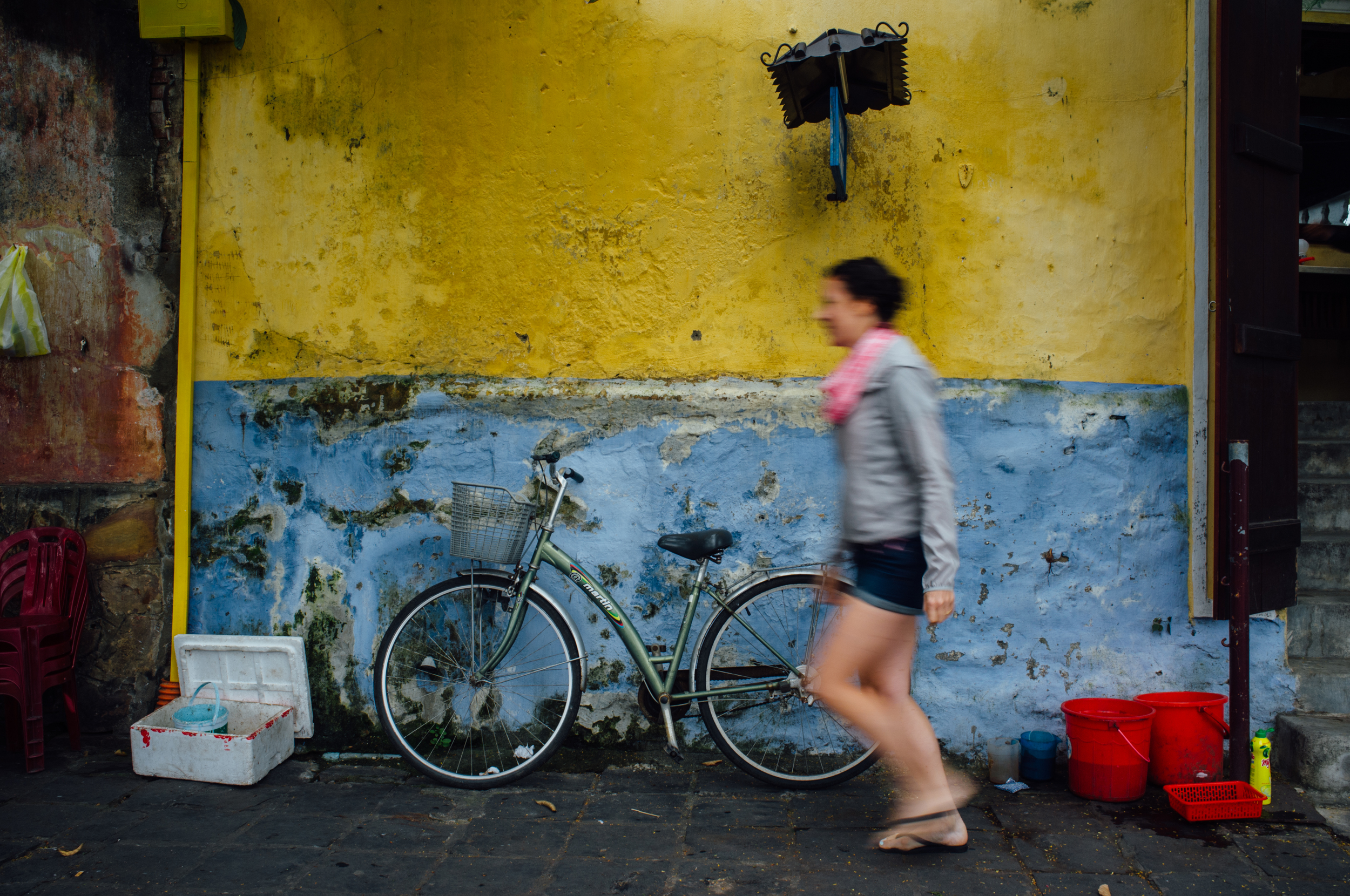 Hoi An, Central Vietnam: This light rain jacket was perfect for staying dry