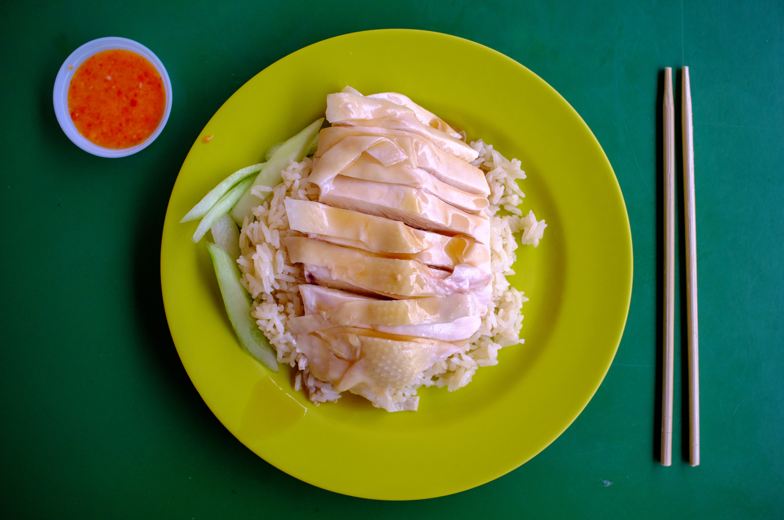 Hainanese Chicken Rice at Maxwell Road Hawker Centre
