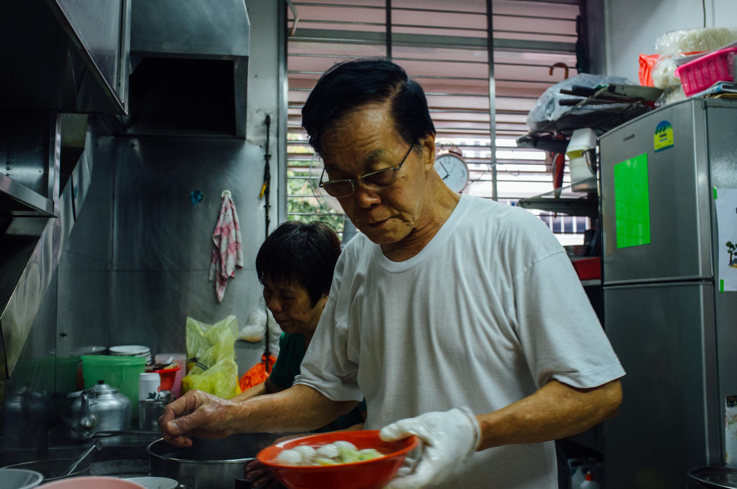 Prem's favorite fish ball noodles uncle, Tiong Bahru Food Centre