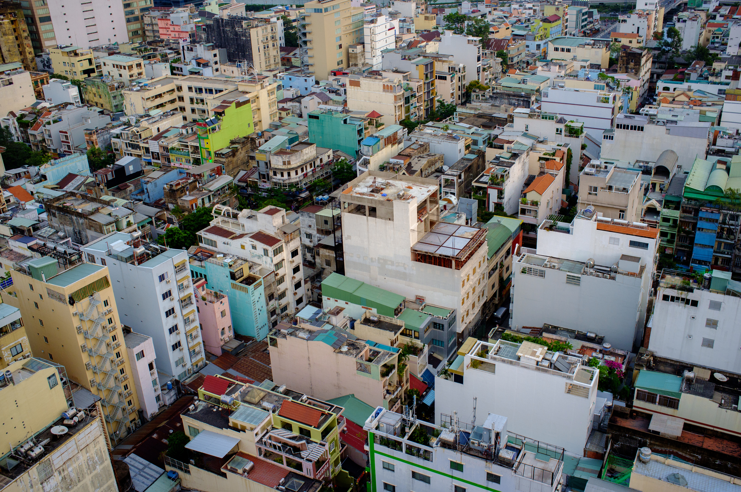 Saigon: so dense, you can barely see the streets