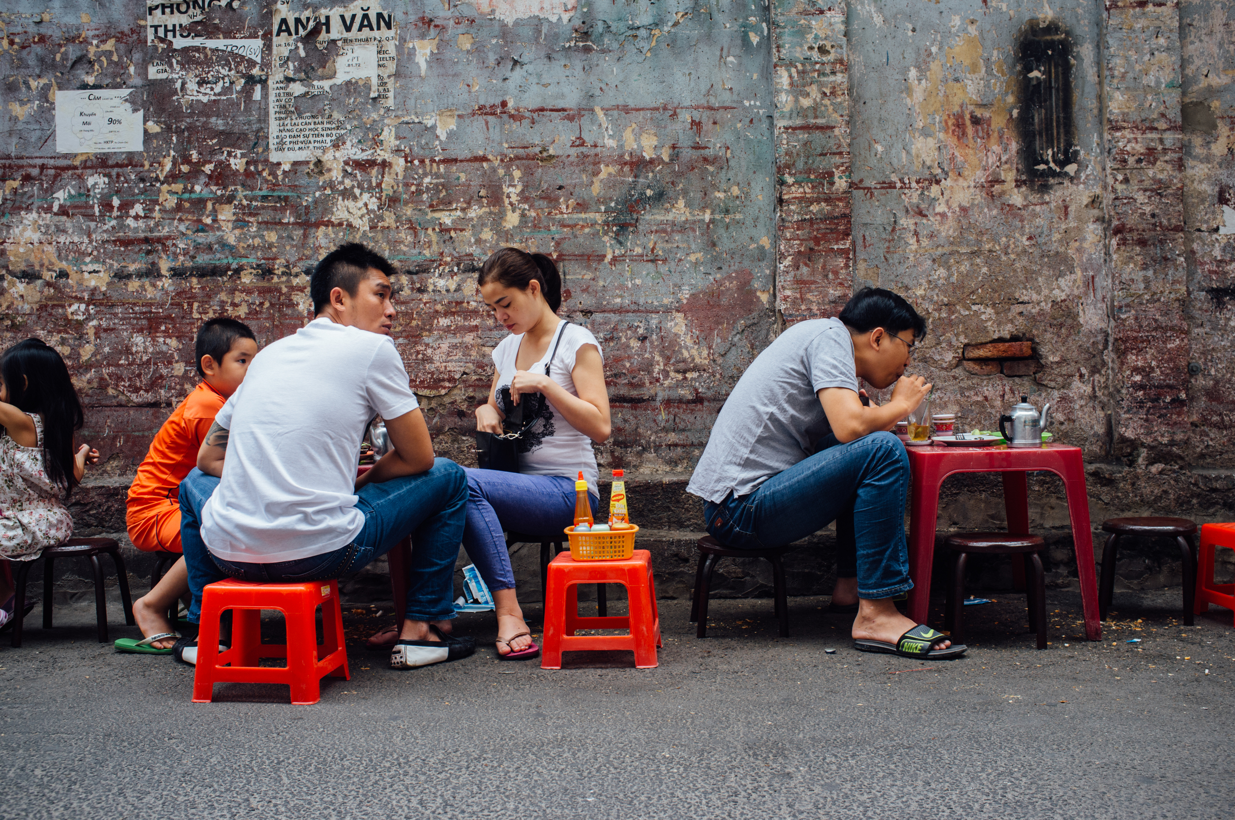 Saigon: what could be a better meal-time setting?