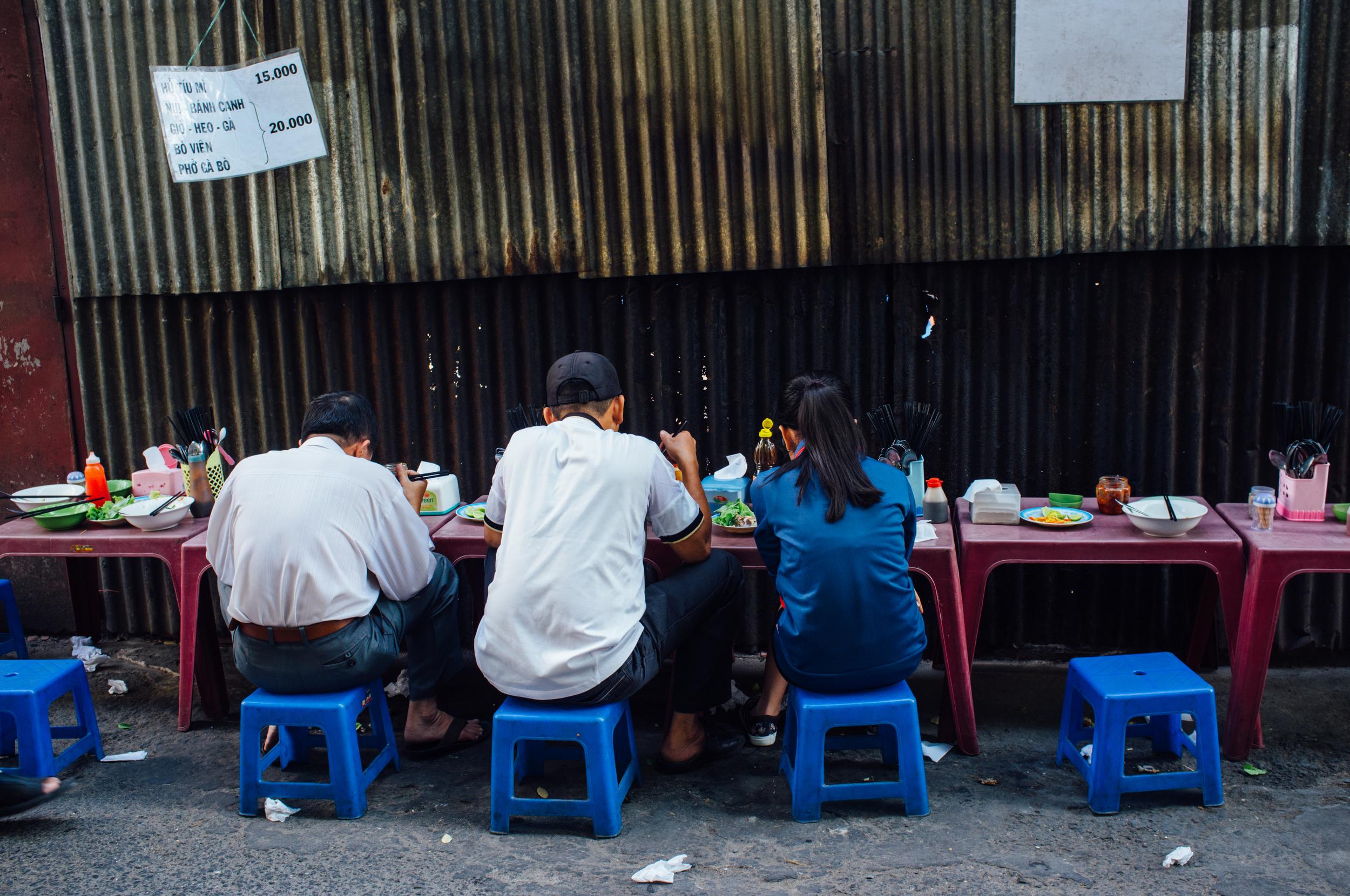 Saigon: alley lunch