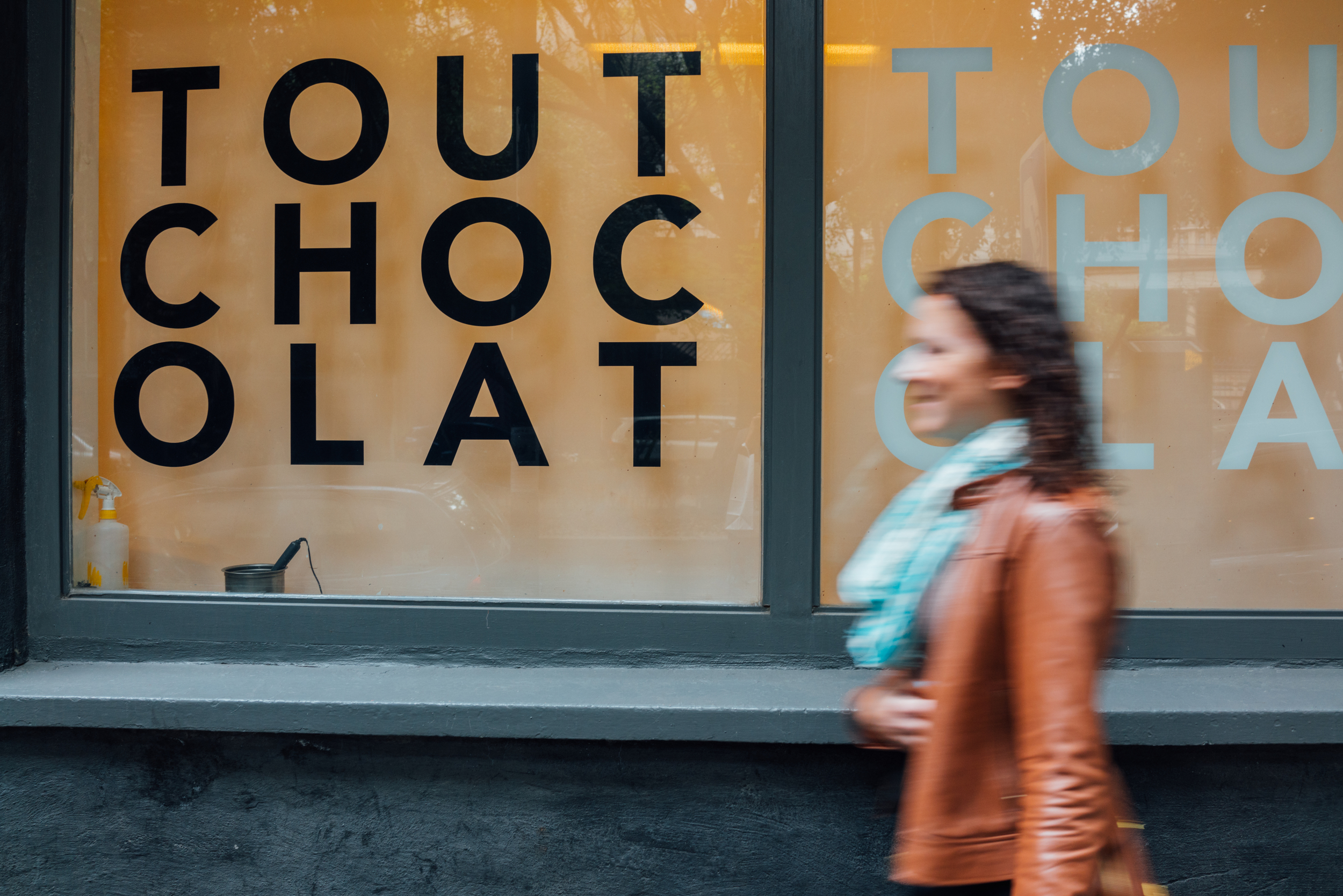 Tout Chocolat's Condesa location is located on a leafy street on Amsterdam Ave.