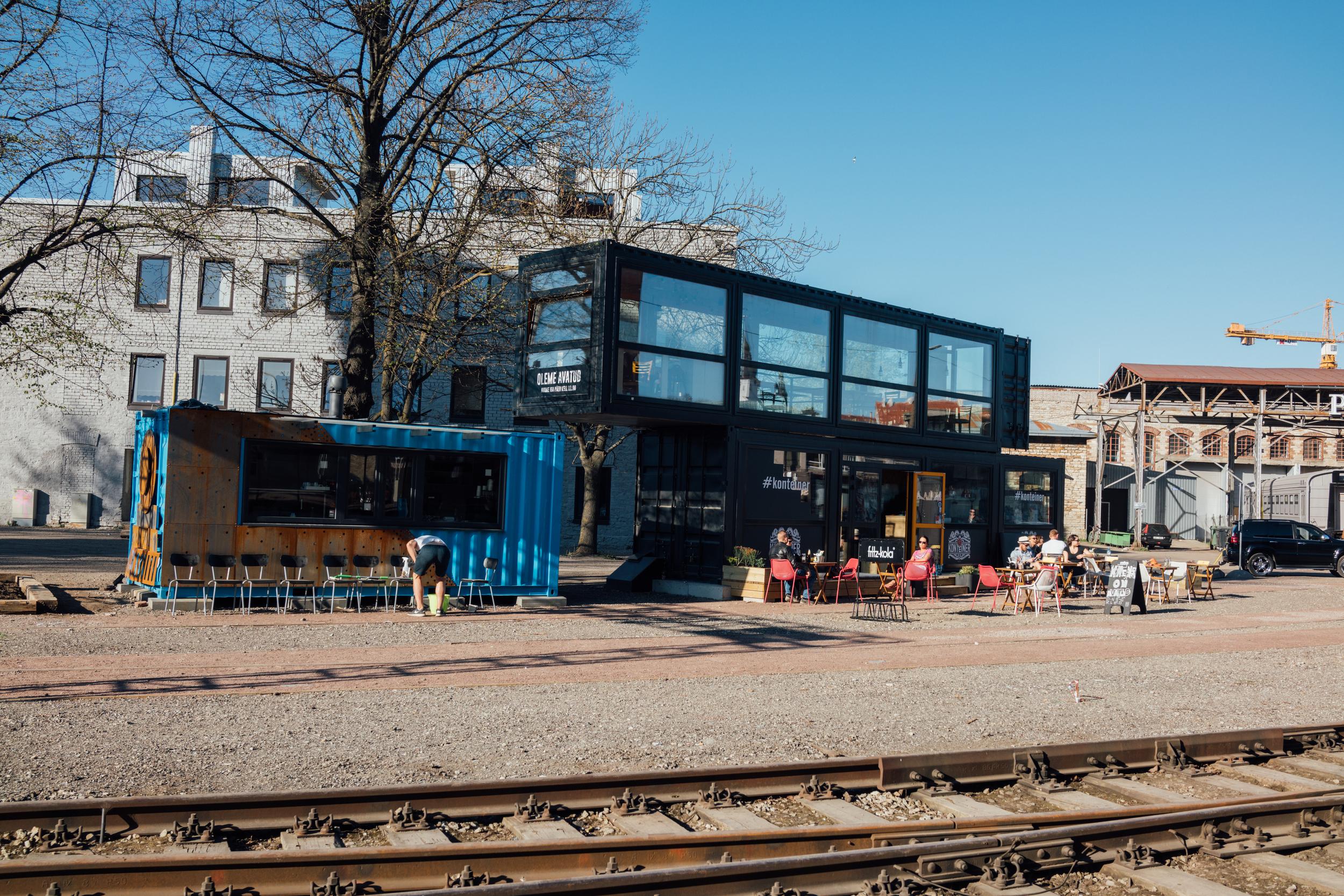 Railway tracks and shipping containers, Kalamaja, Tallinn