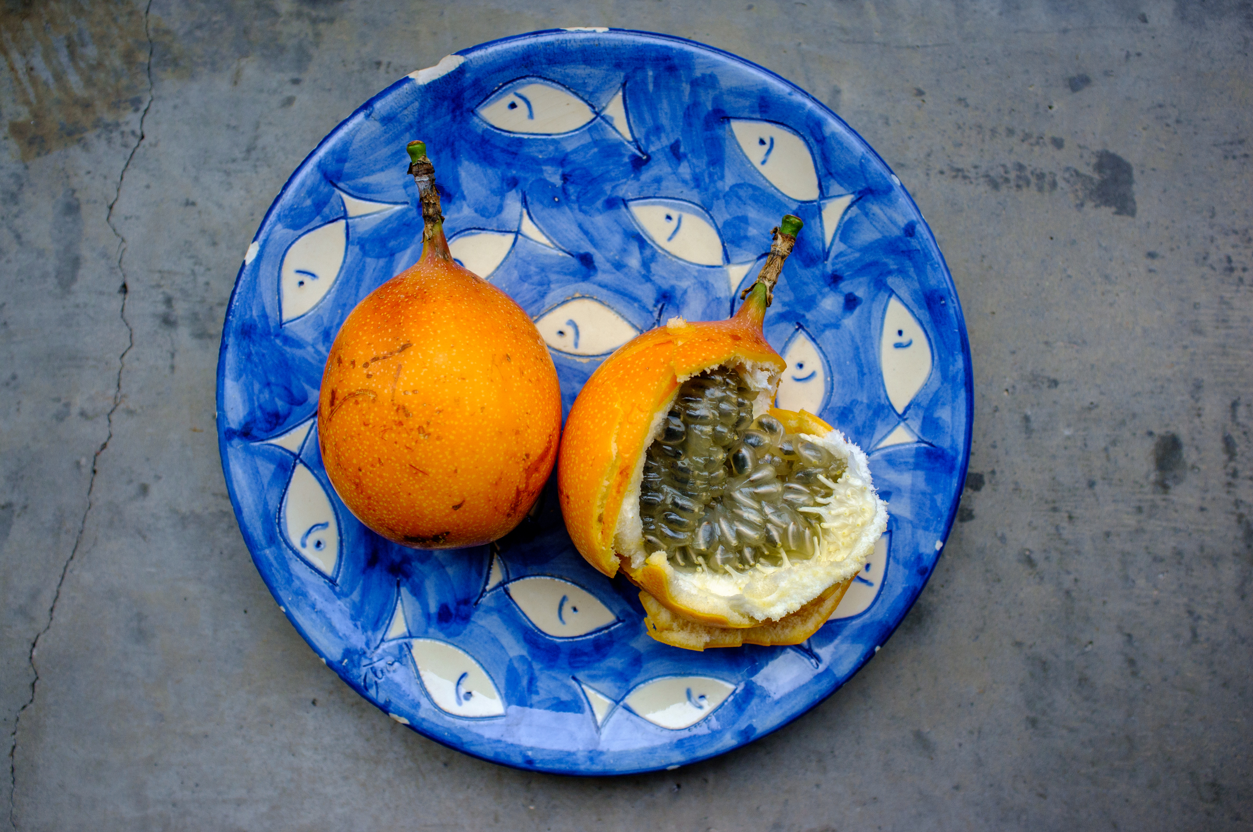 Granadilla, probably our favorite fruit in Colombia