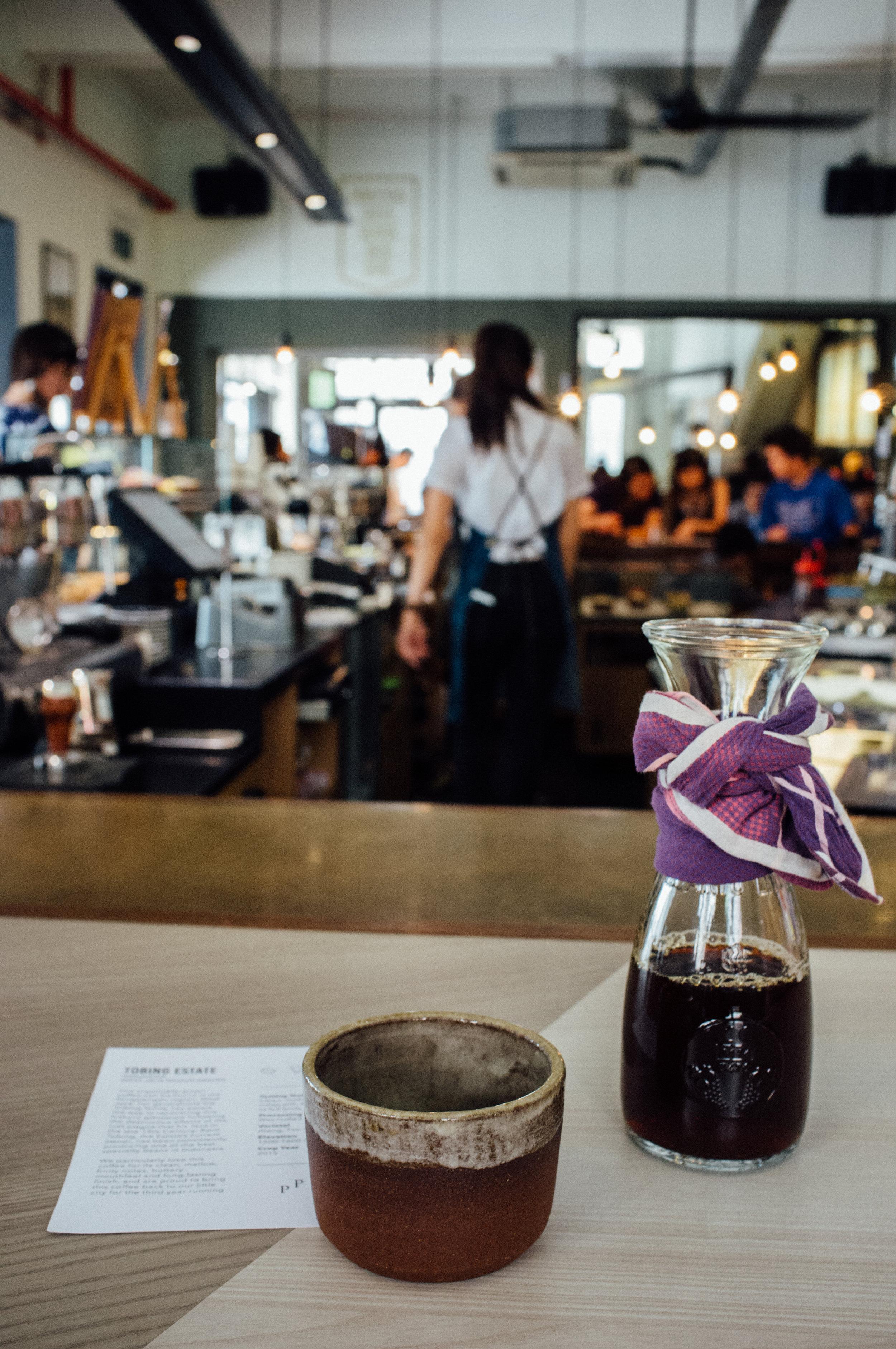 Tobing Estate Single Origin Pourover at Chye Seng Huat Hardware Coffee Bar