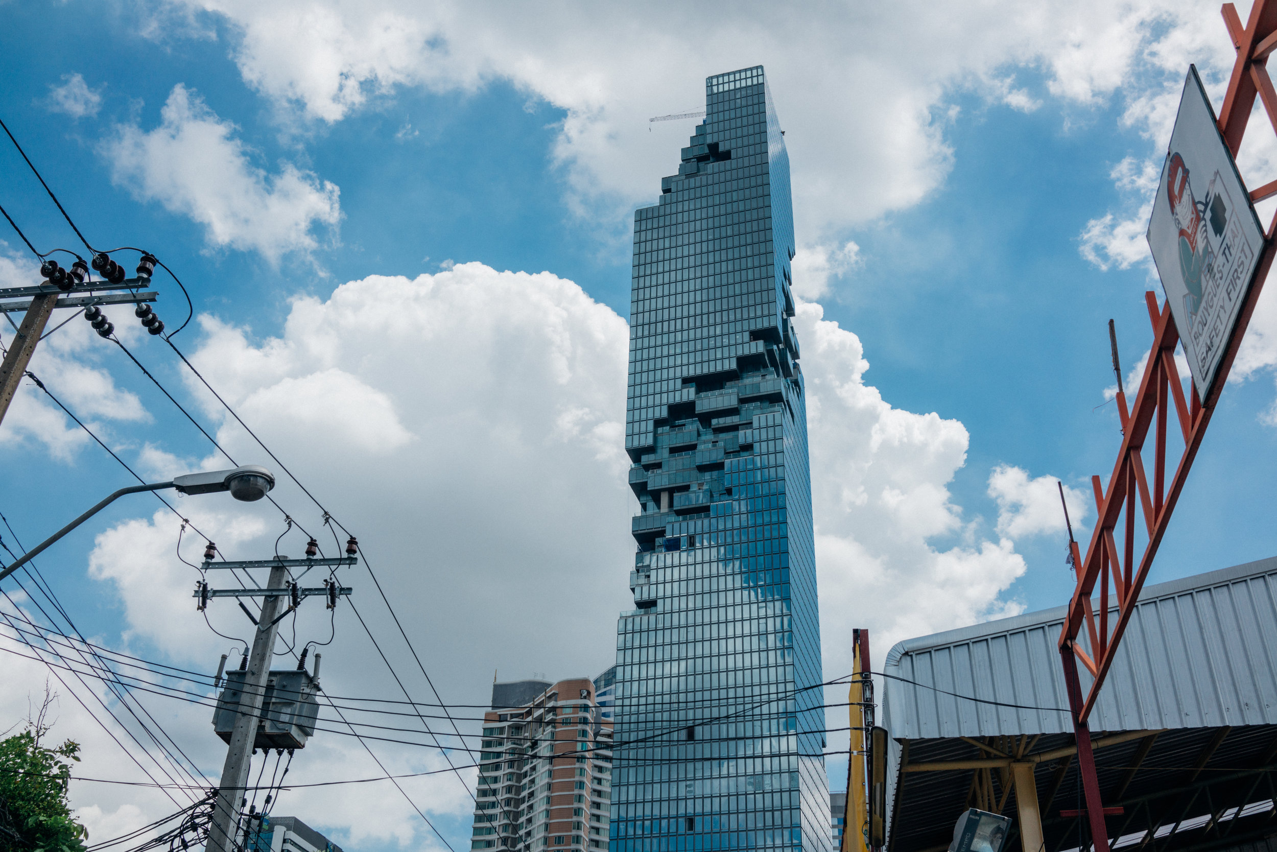 A new high-rise building under construction in Bangkok