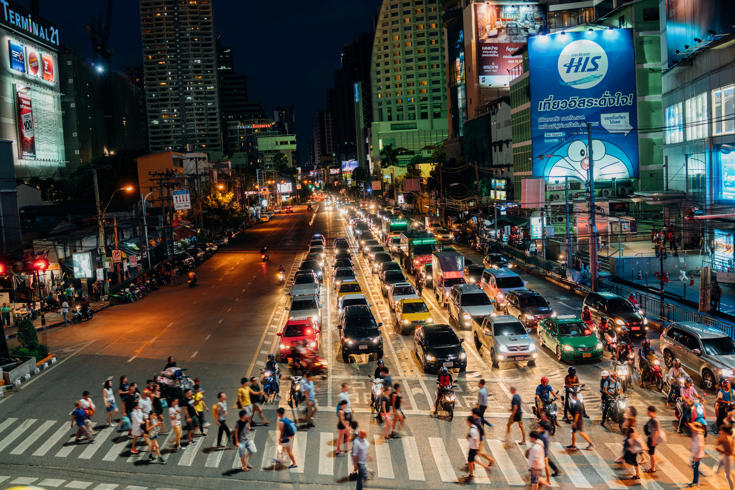 Bangkok traffic is civilized, but it's brutal