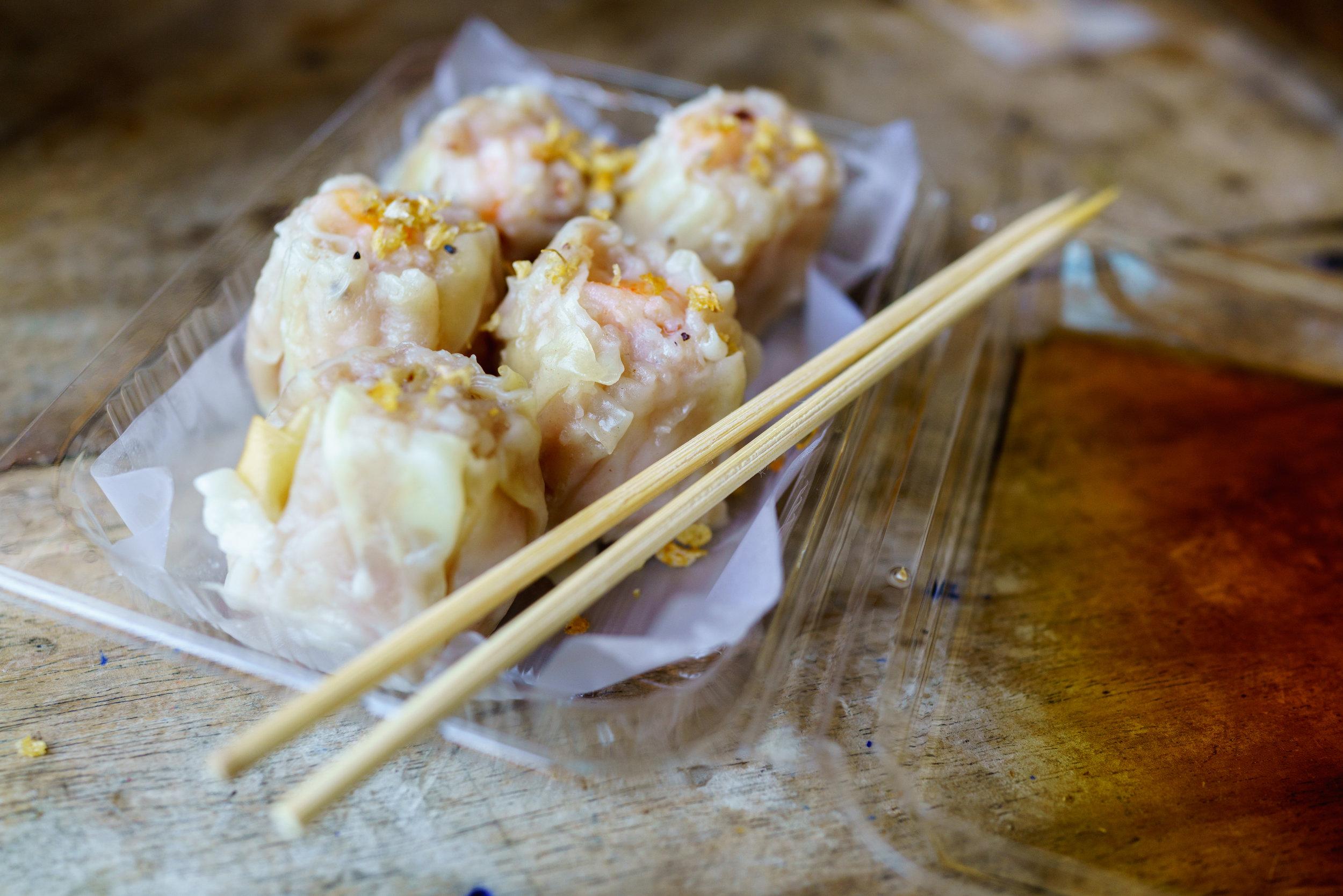 Pork and shrimp dumplings - quick and delicious