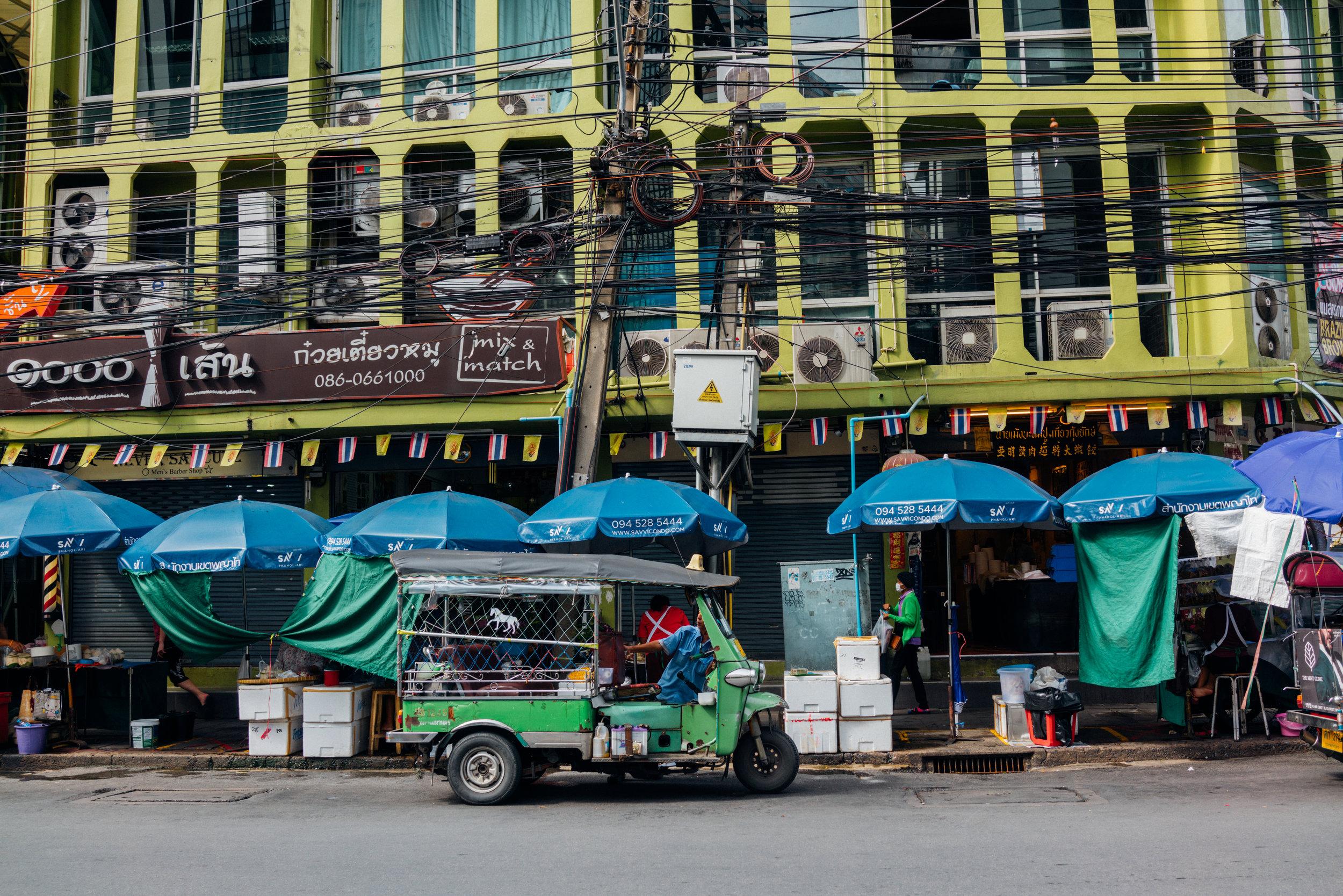 A street in Ari, the neighborhood we stayed in while in Bangkok