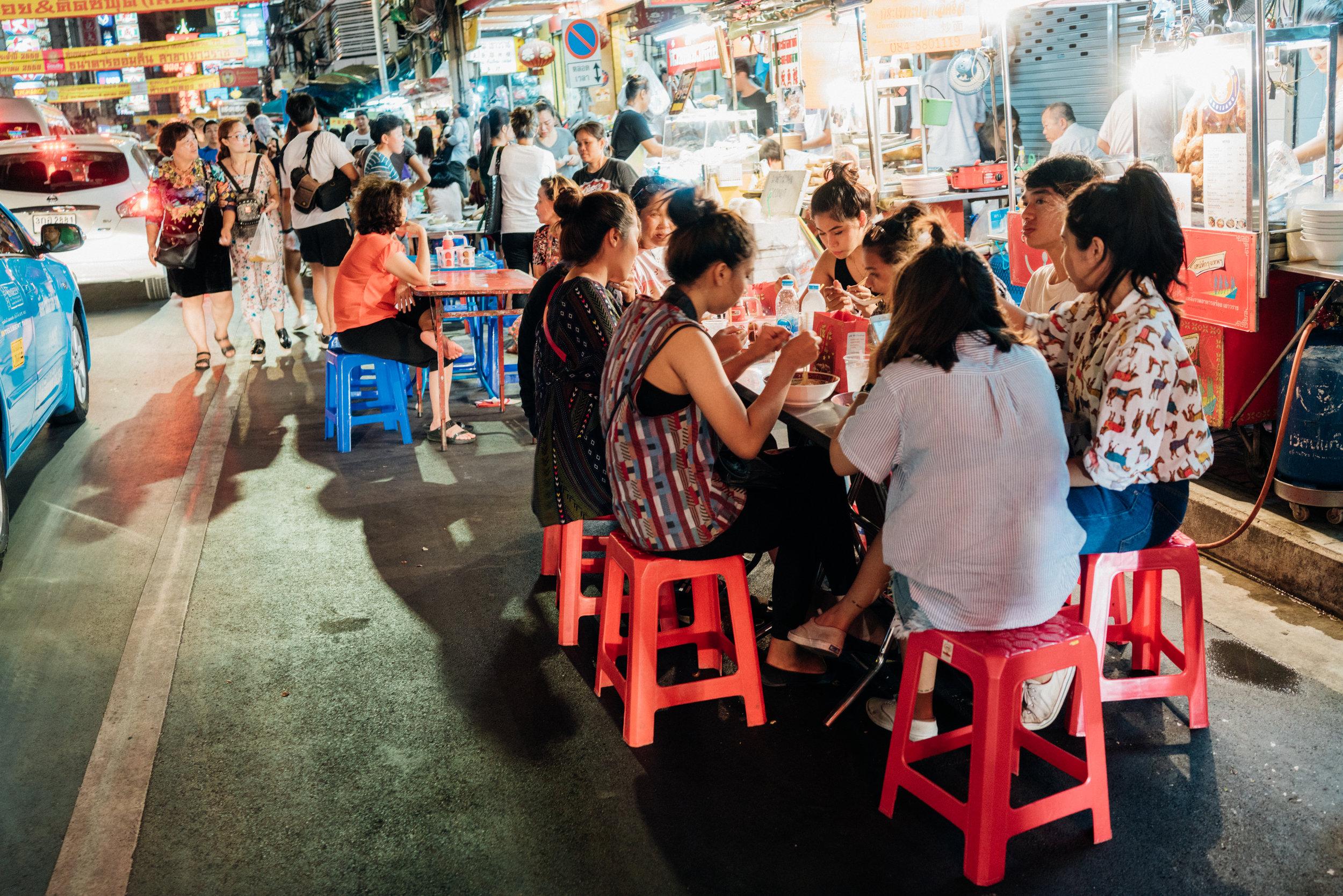 Bangkok's Chinatown is full of street food vendors come sundown