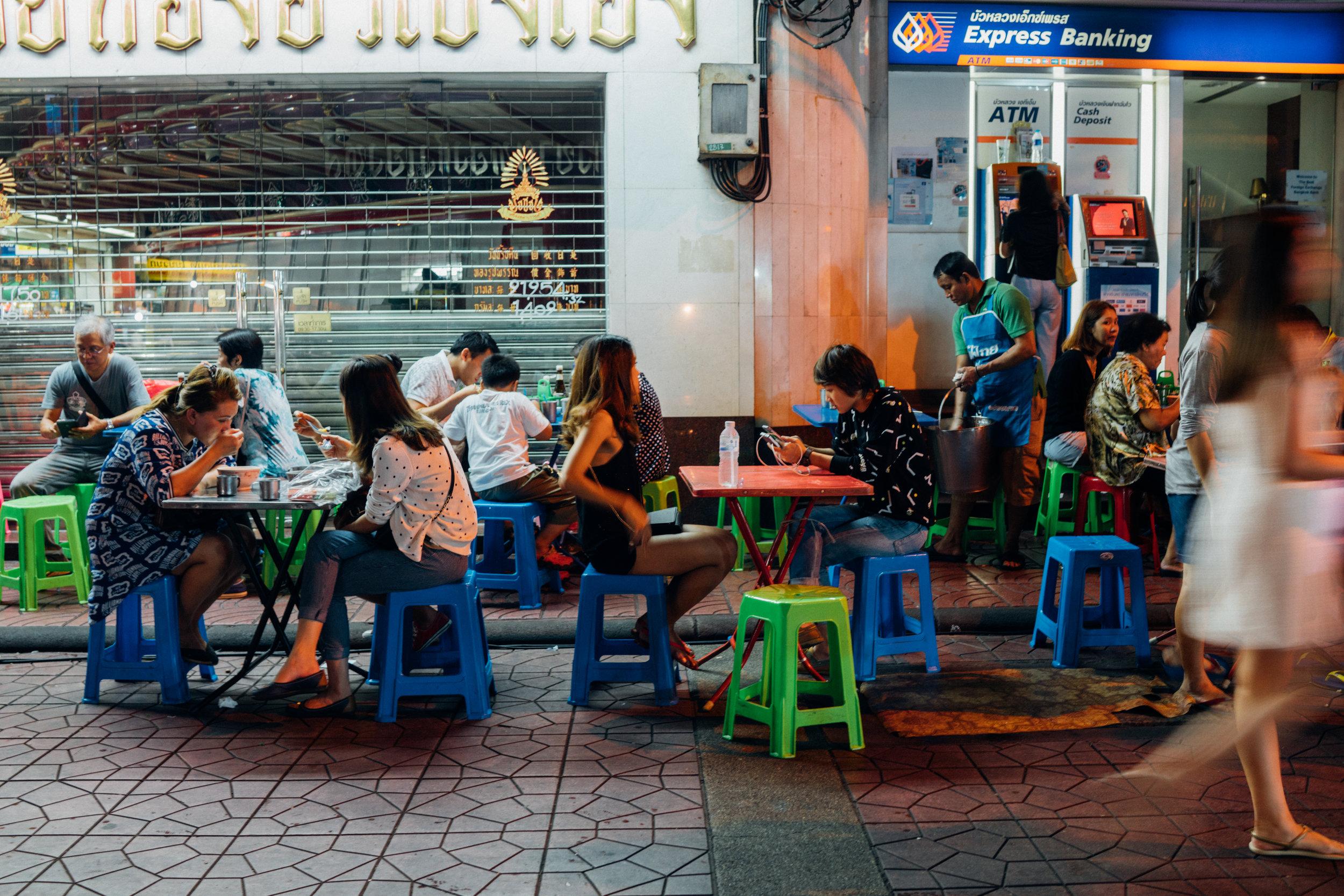 Night street food scene, Bangkok