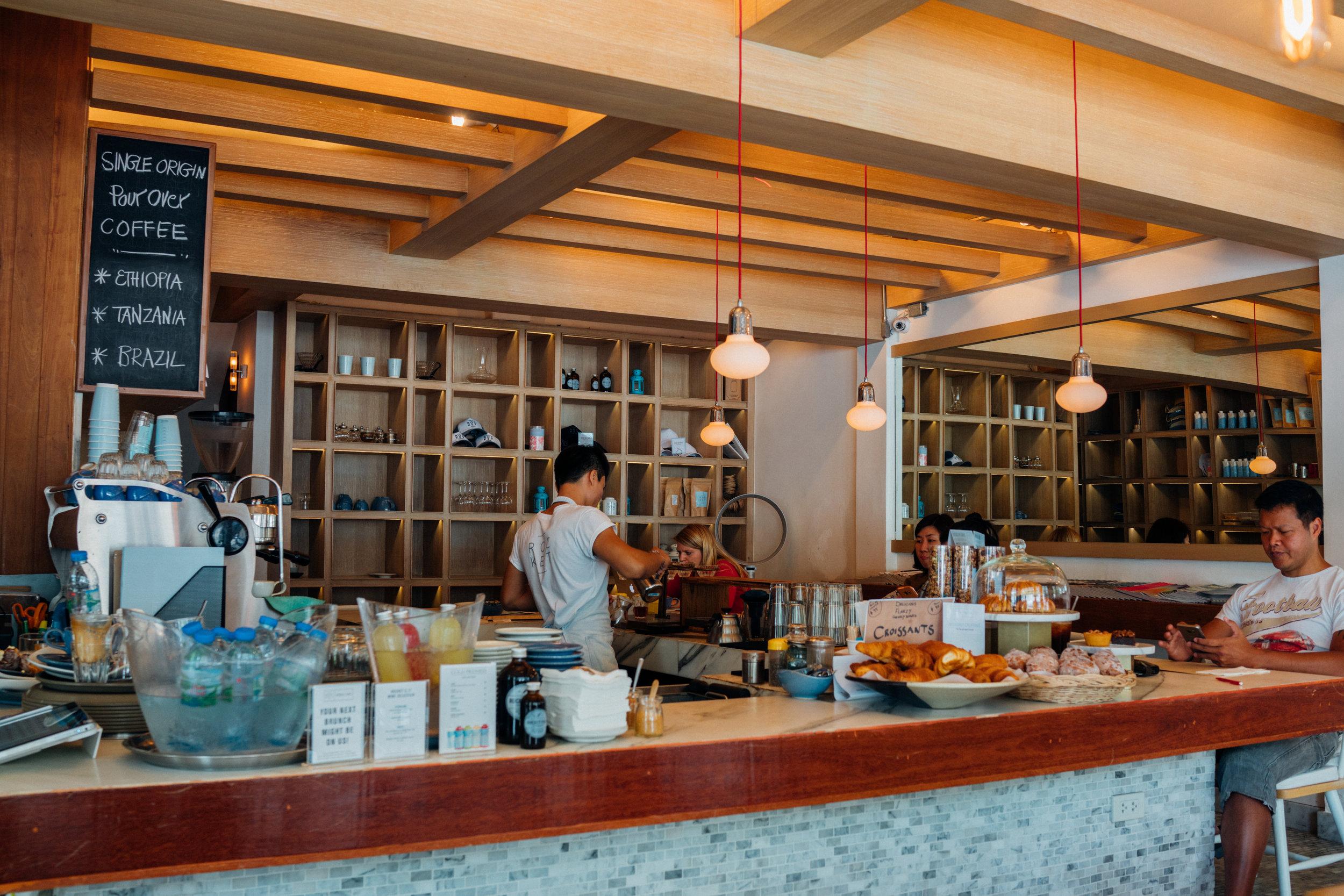 The bar at Rocket