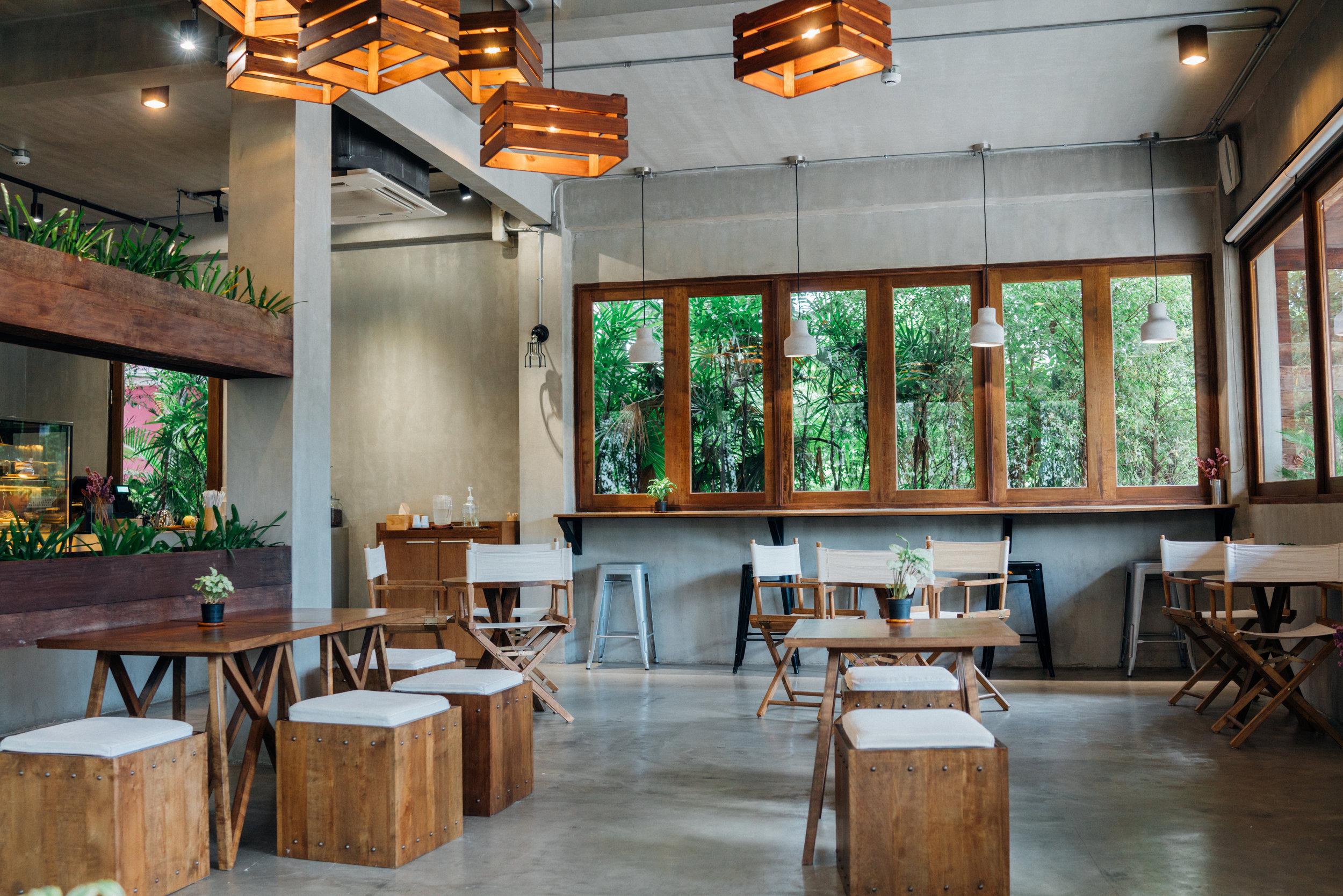 The beautiful and calming space at Slow Cafe