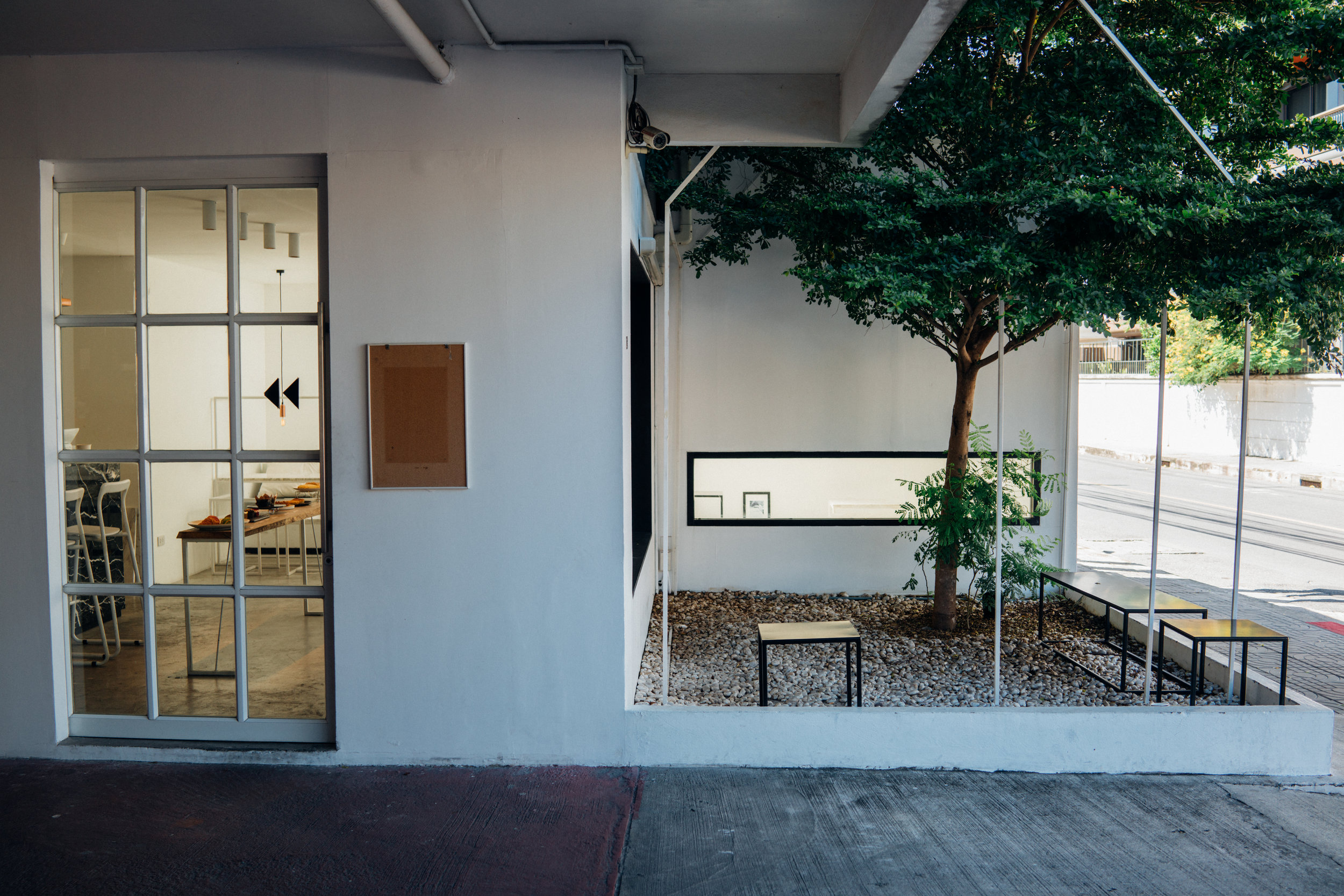 The minimalist space at Hands and Heart Cafe in Bangkok