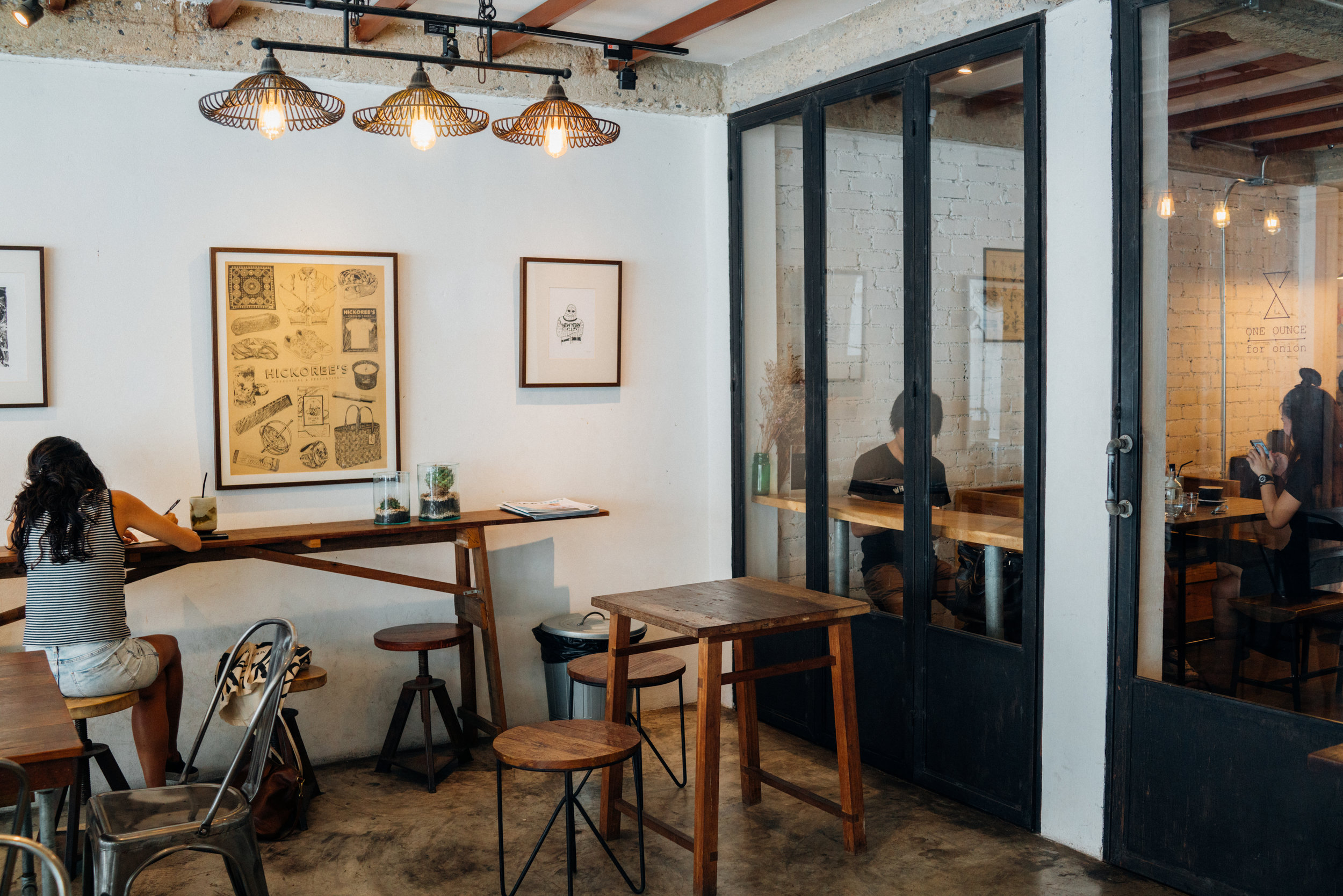The exterior space at One Ounce for Onion in Bangkok