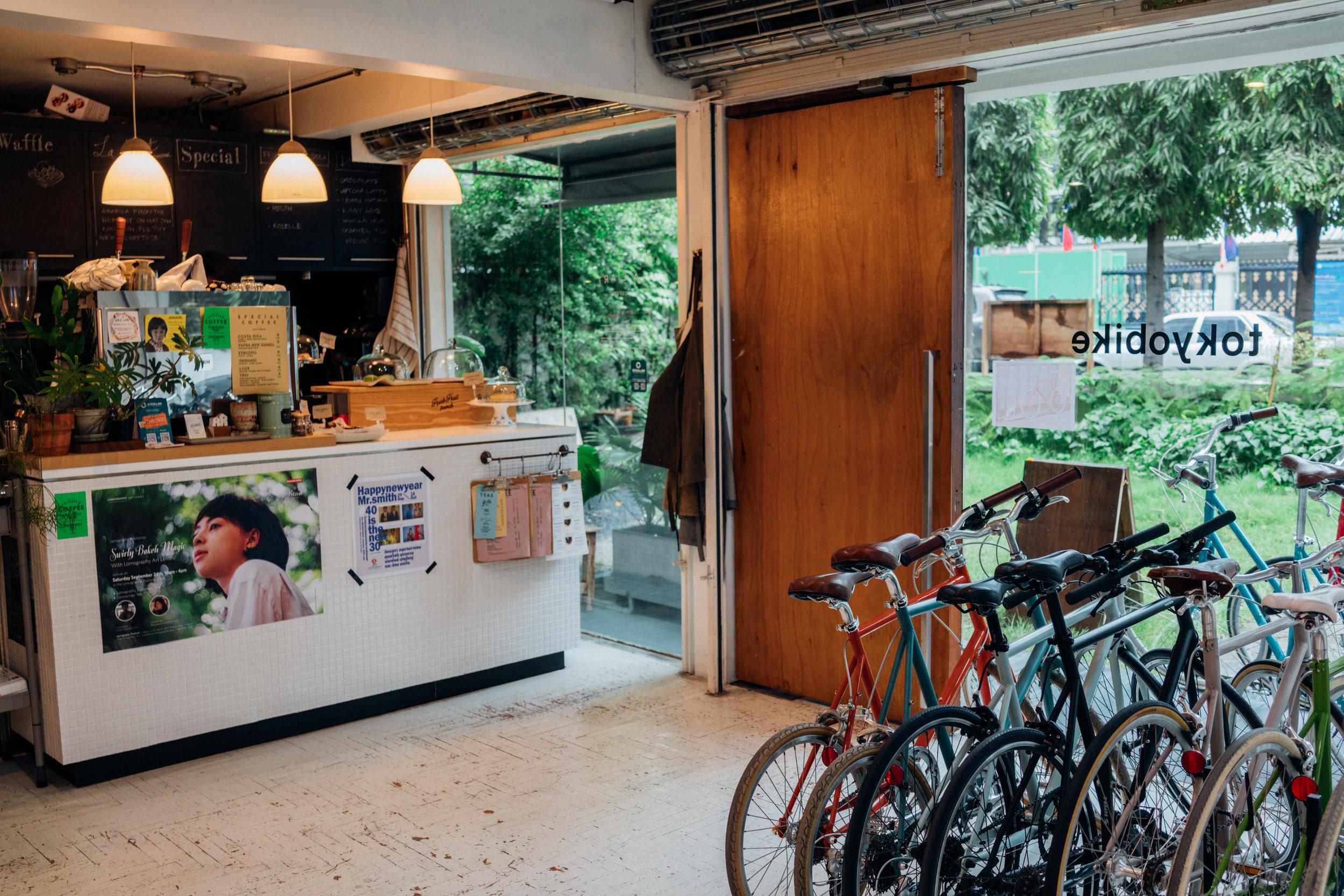 Bikes meet coffee