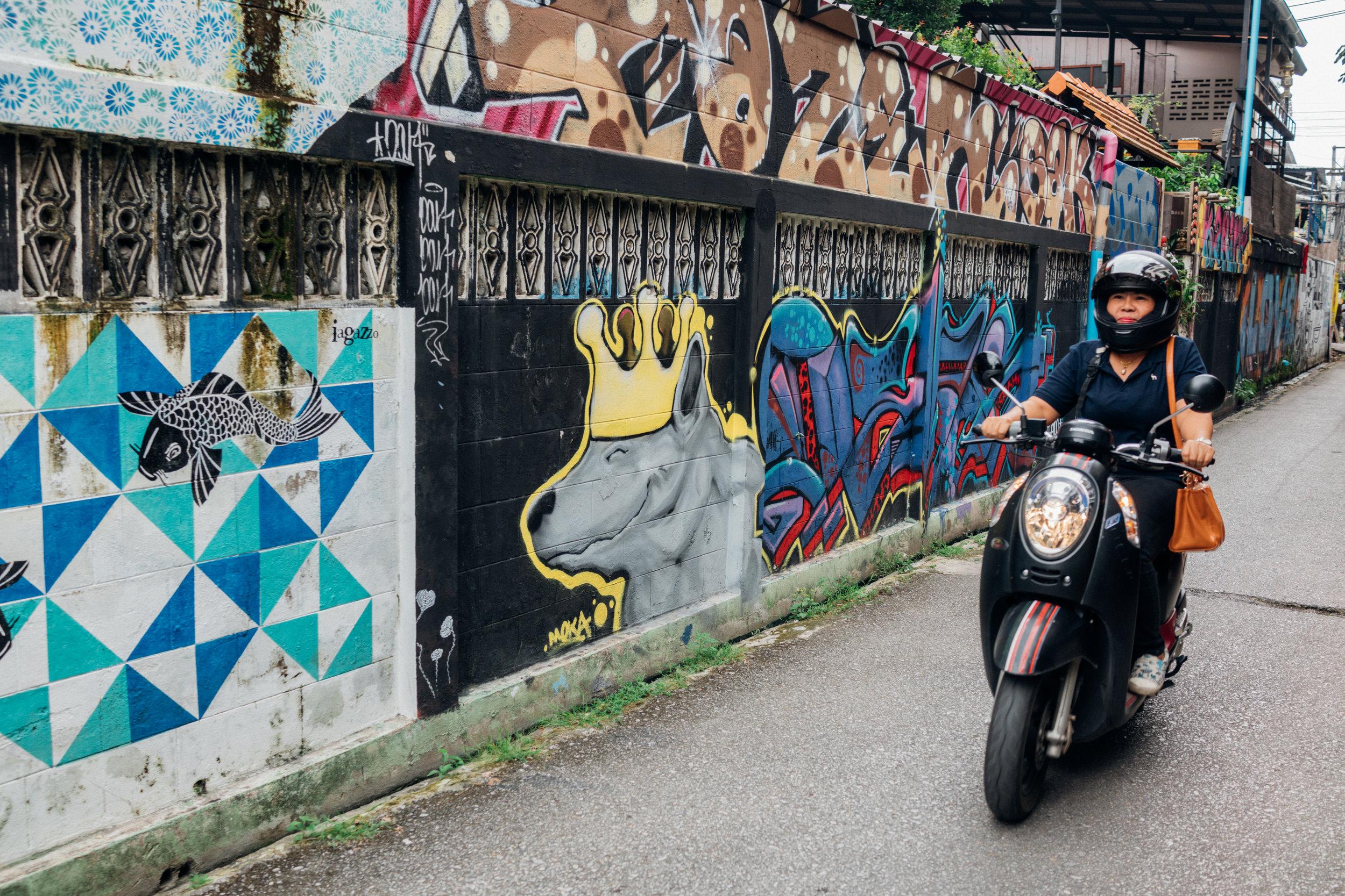 Chiang Mai is full of street art
