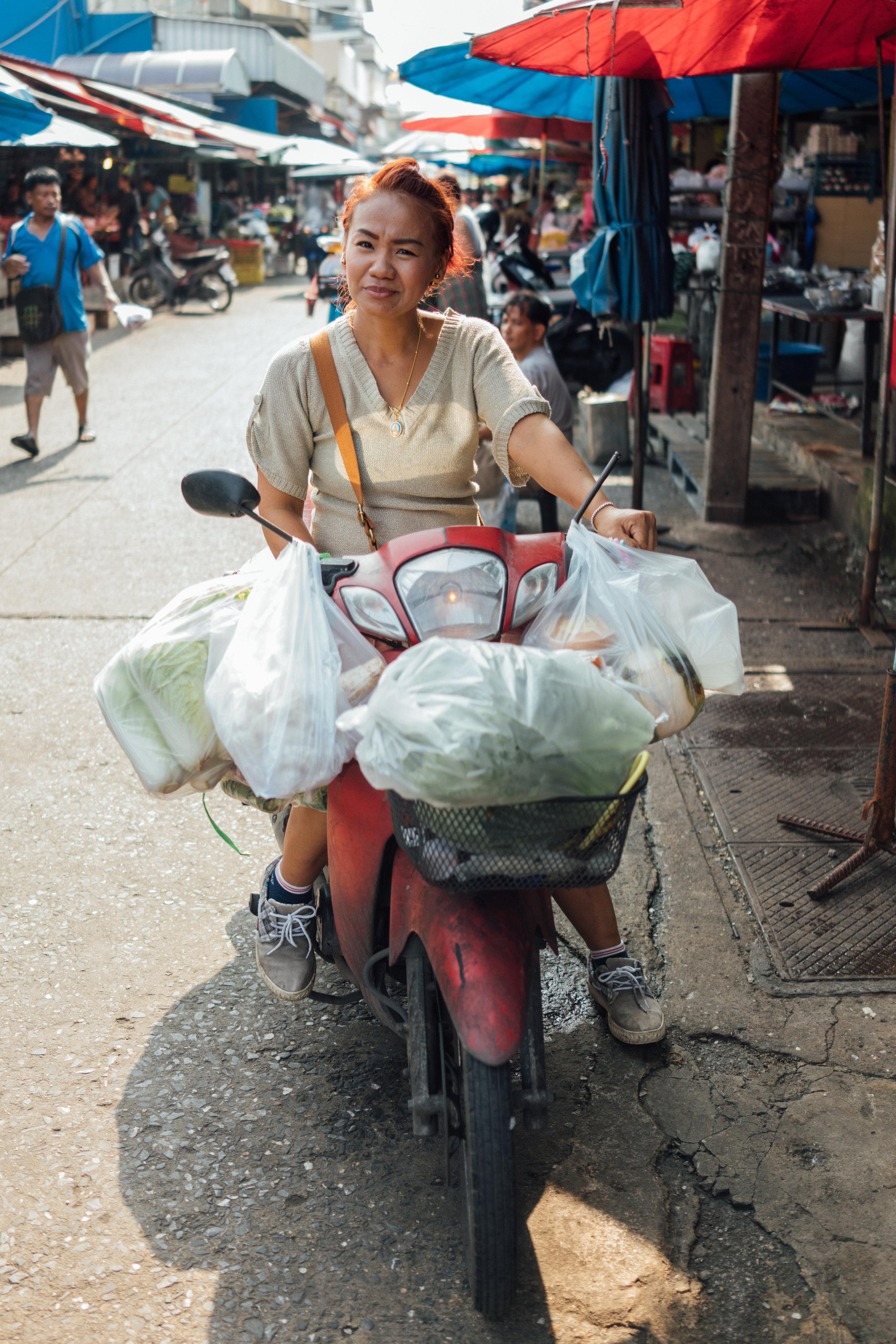 Stocking up at Muang Mai Market, a wholesale market