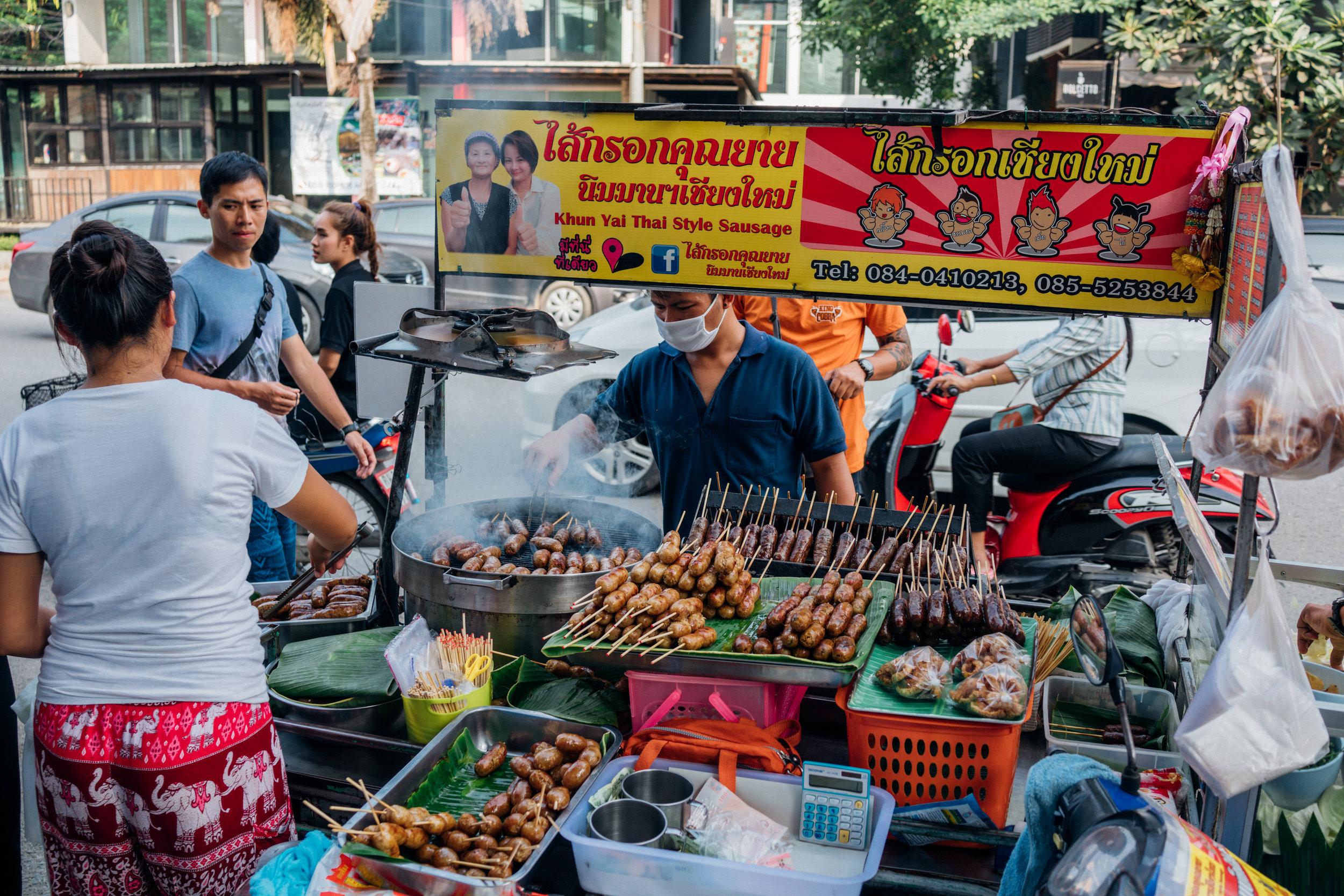 Street food in our neighborhood of Nimmanhaemin