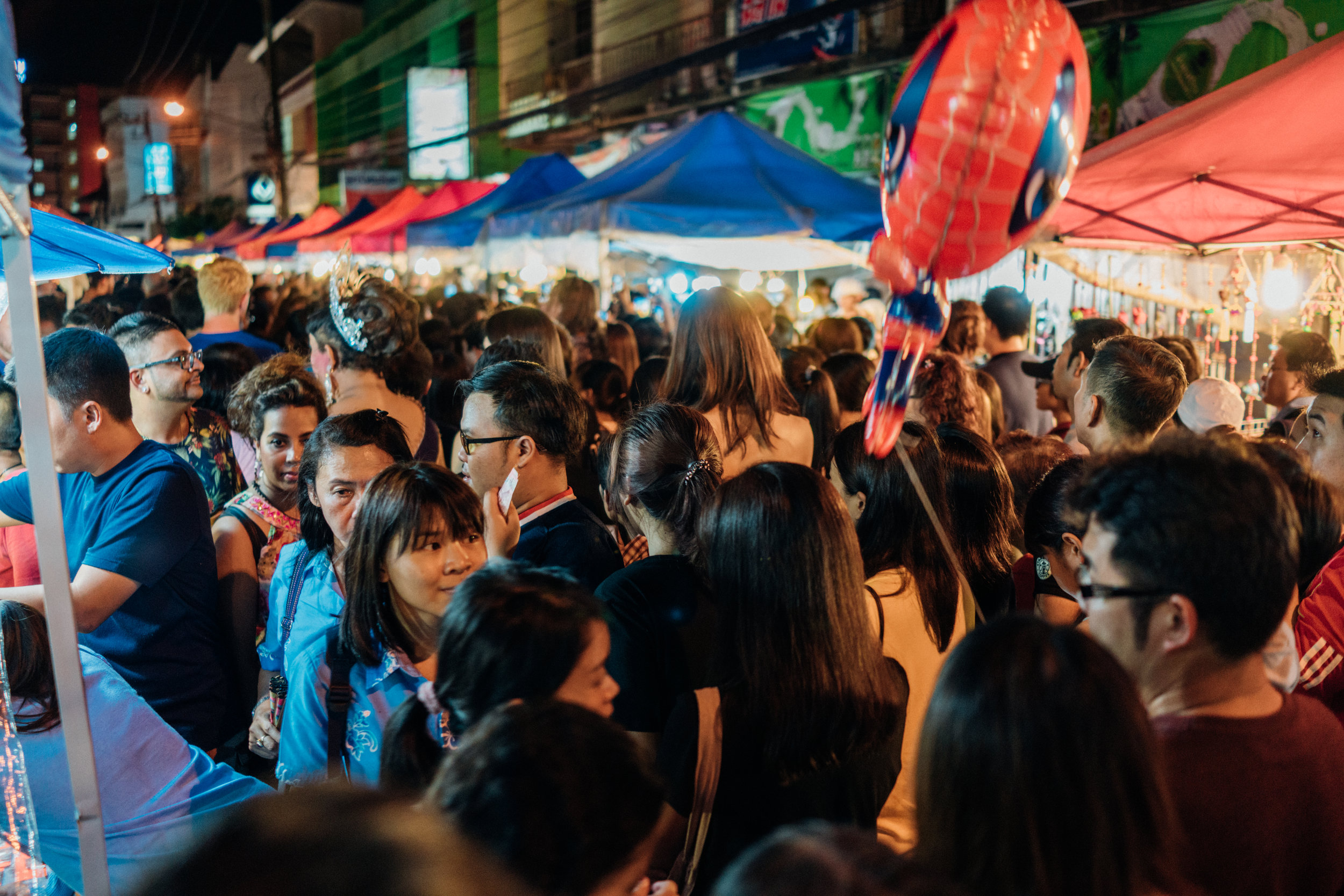 Every night crowds can be found at a different market