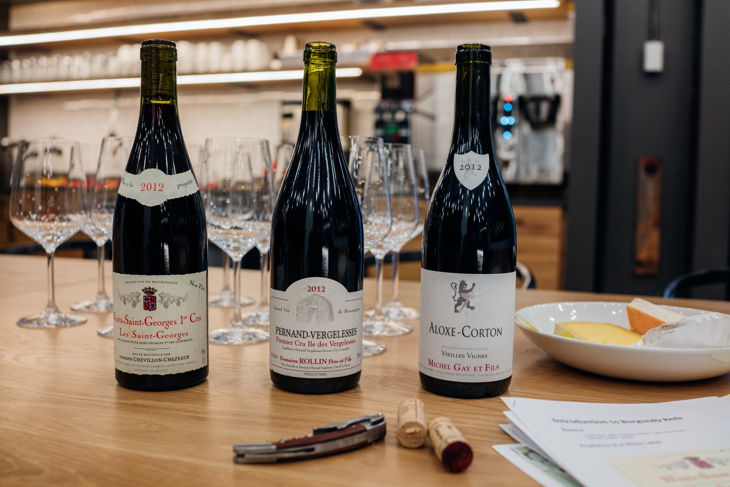 2012 Domaine Chevillon-Chezeaux Les Saint-Georges, Nuits-Saint-Georges Premier Cru, part of a tasting during an introductory Burgundy wine class I taught