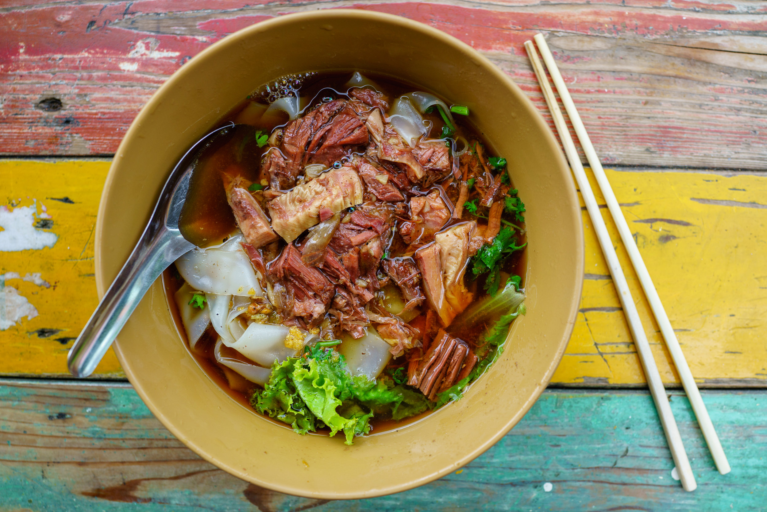Beef noodle soup for lunch