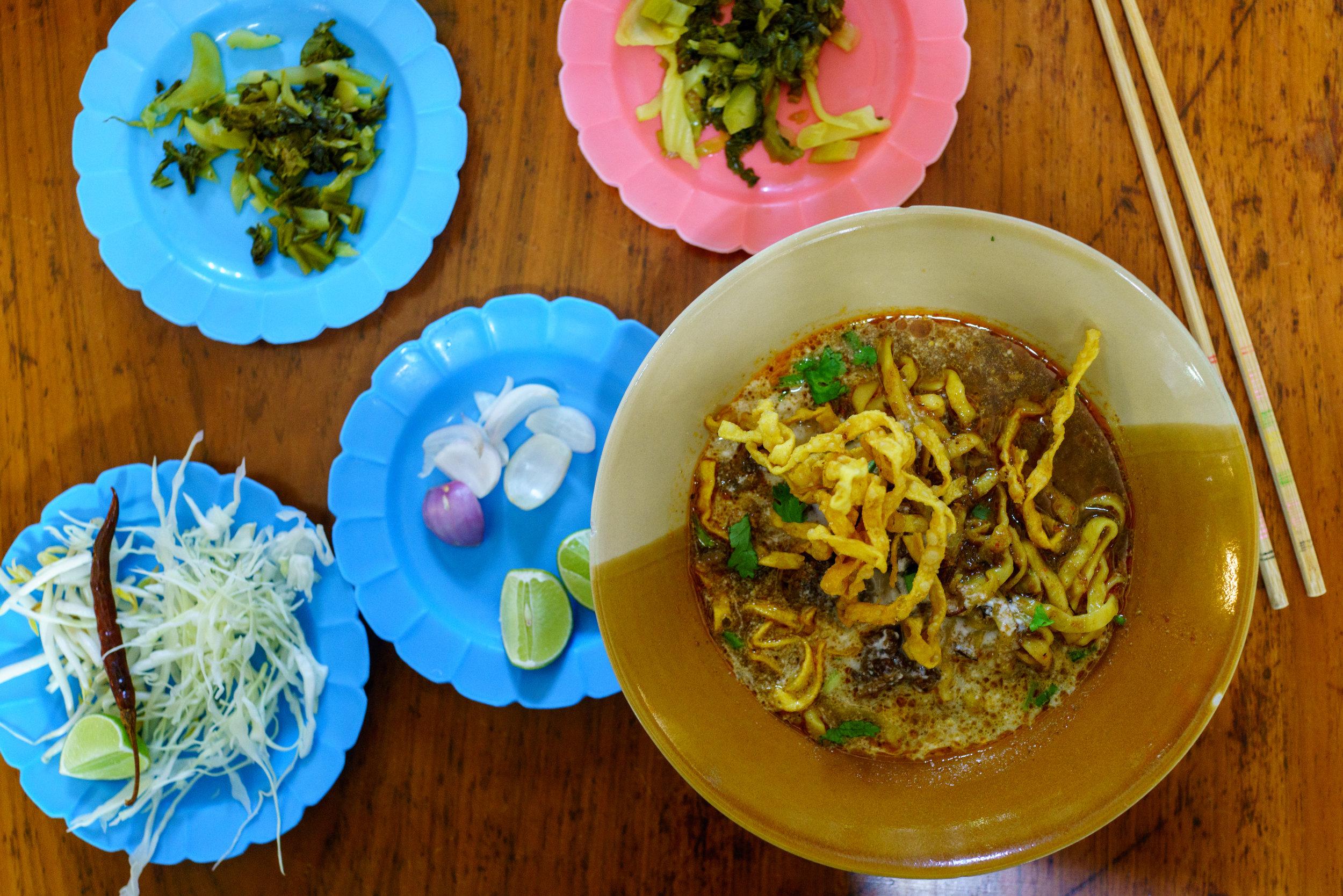 Beef  khao soi at Khao Soi Lam Duan