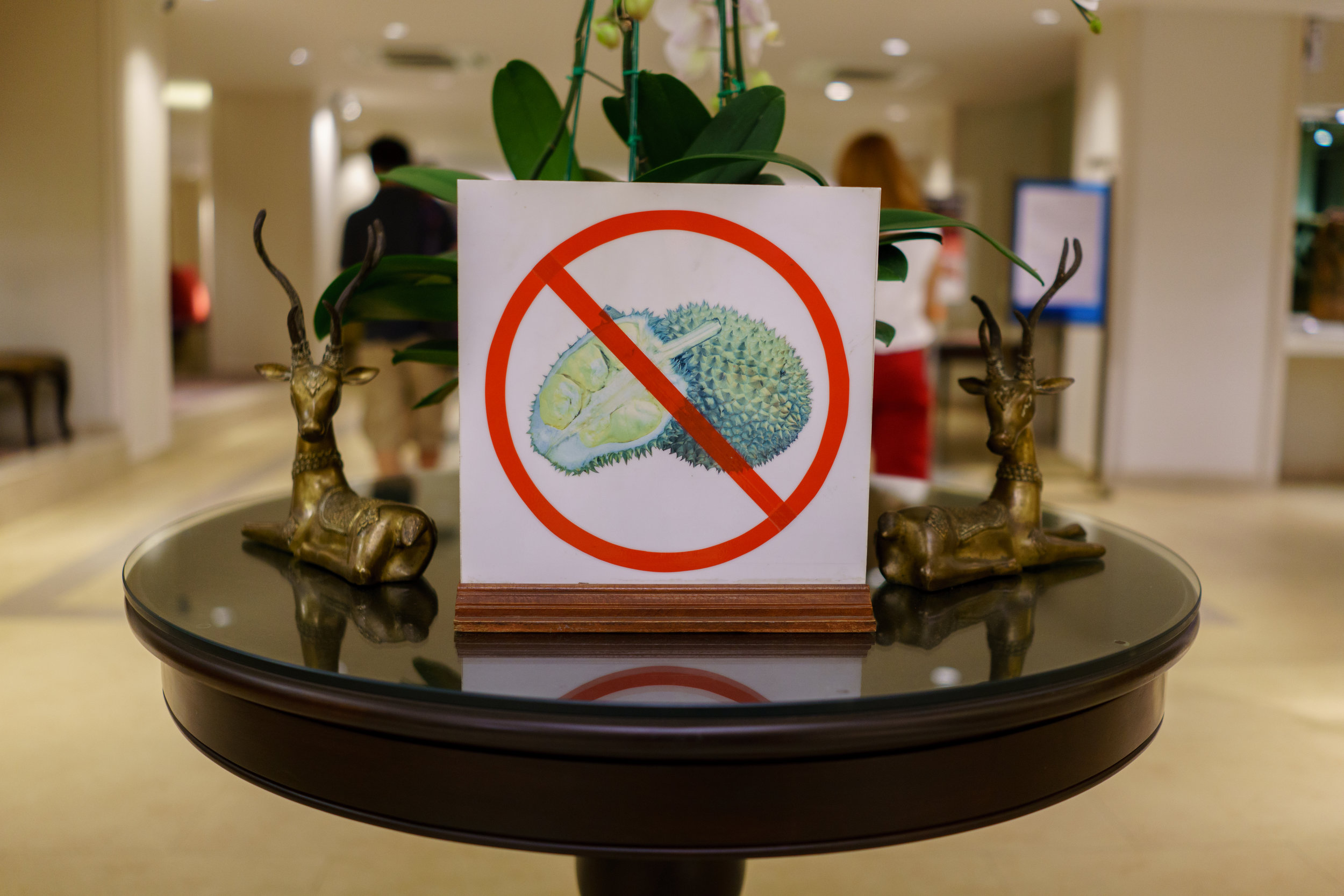 No durian allowed