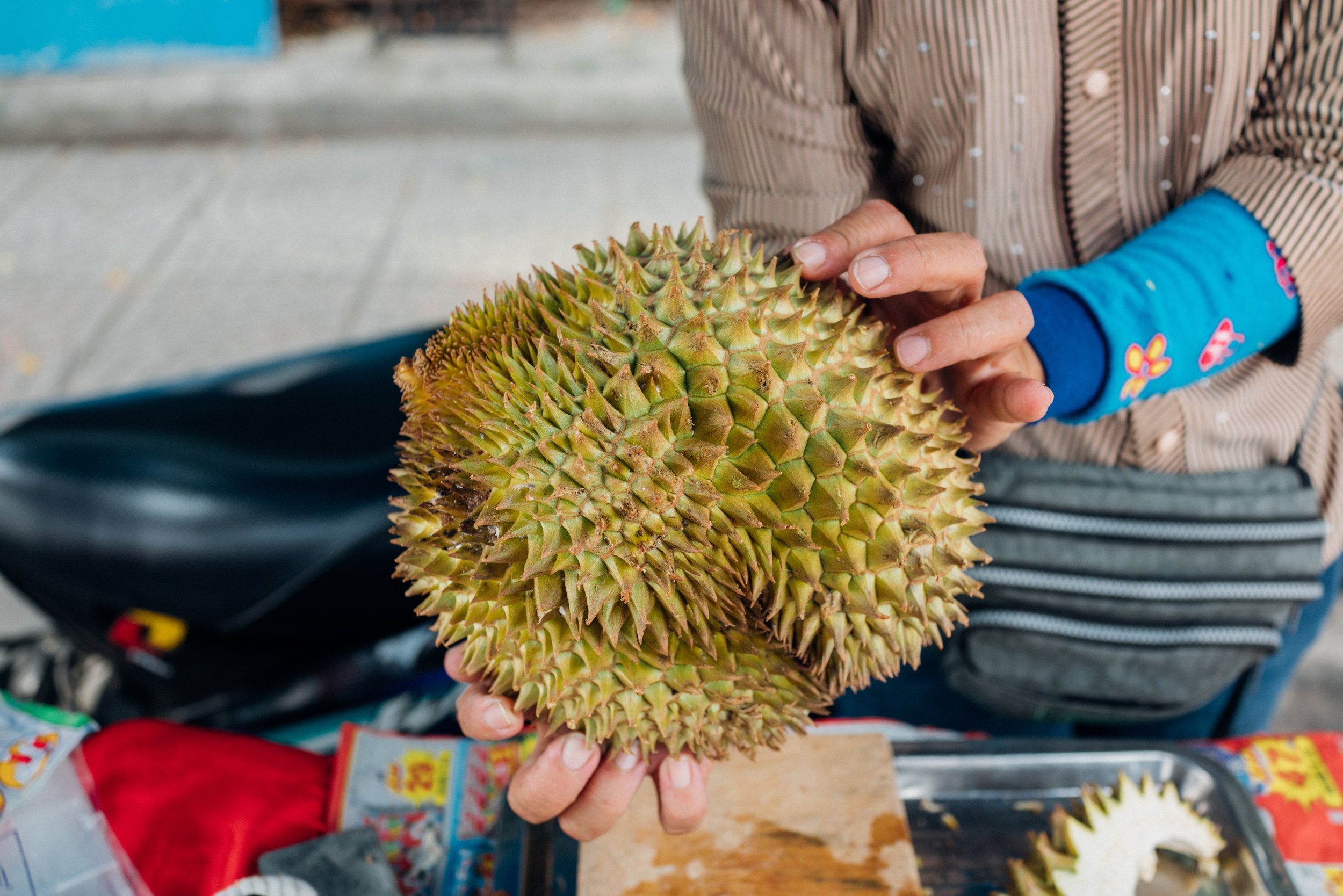 Durians are banned as weapons, due to their sharp thorns