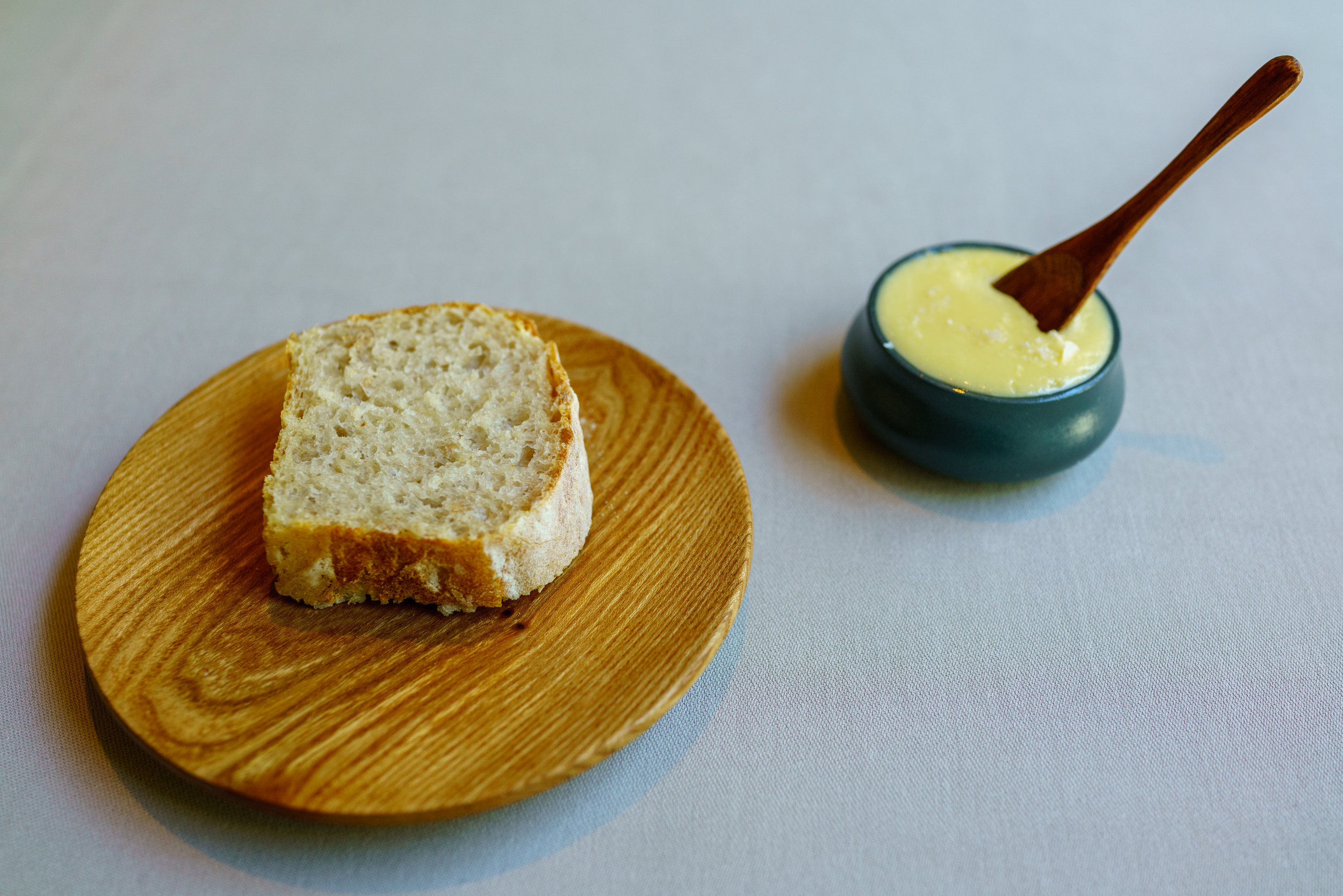 Homemade bread and house-churned butter