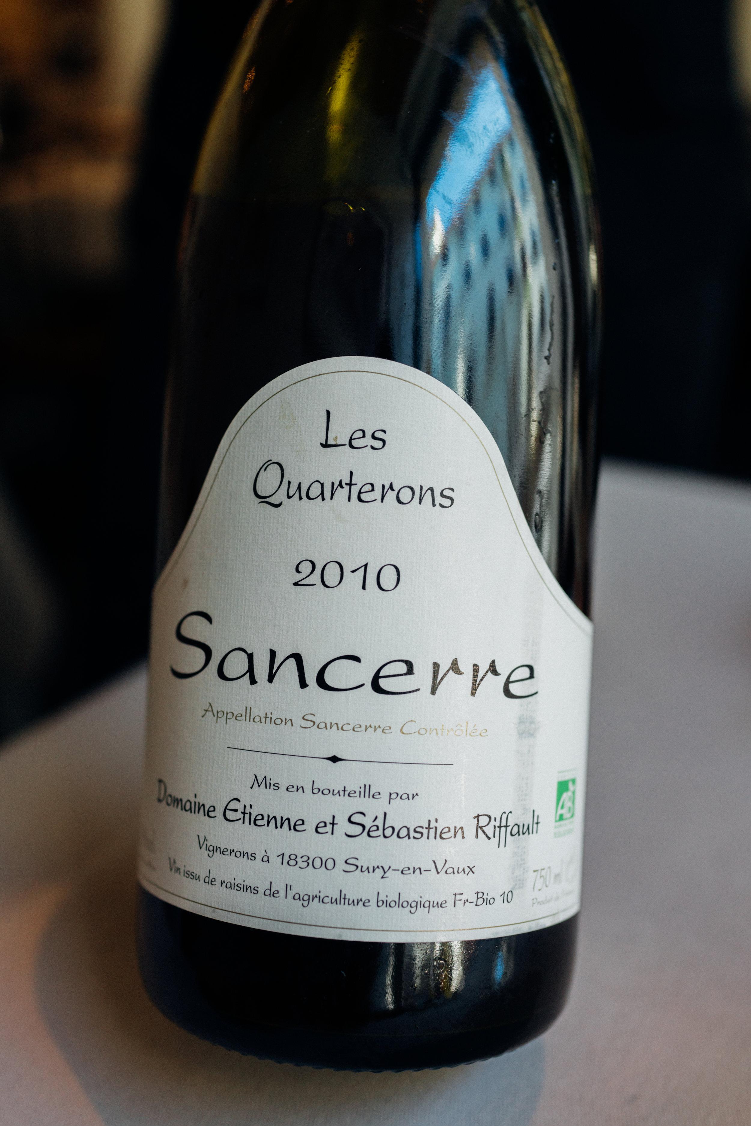 """2010 Domaine Etienne et Sébastien Riffault """"Les Quarterons"""" Sancerre"""