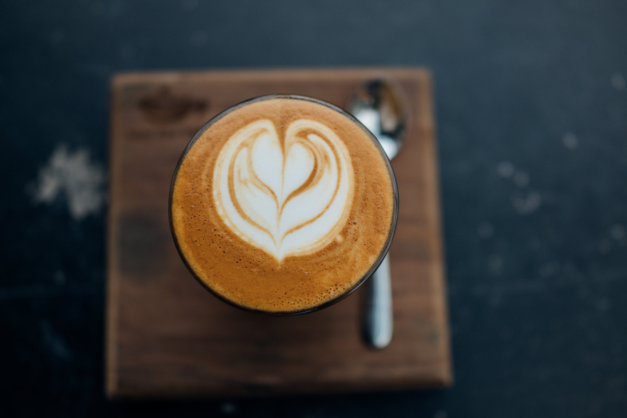A Piccolo at Nine-one Coffee